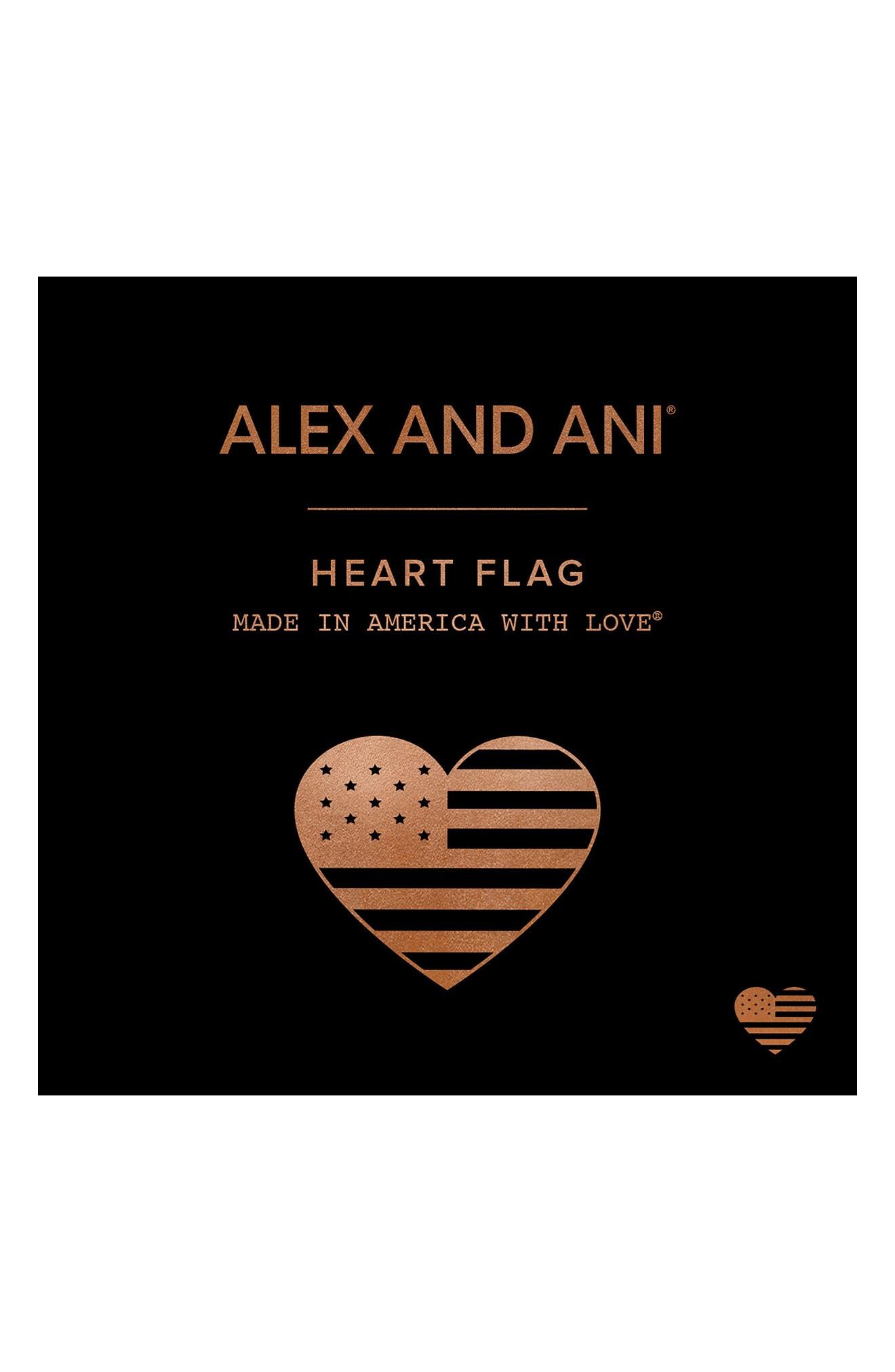 Heart Flag Adjustable Wire Bangle,                             Alternate thumbnail 4, color,                             040