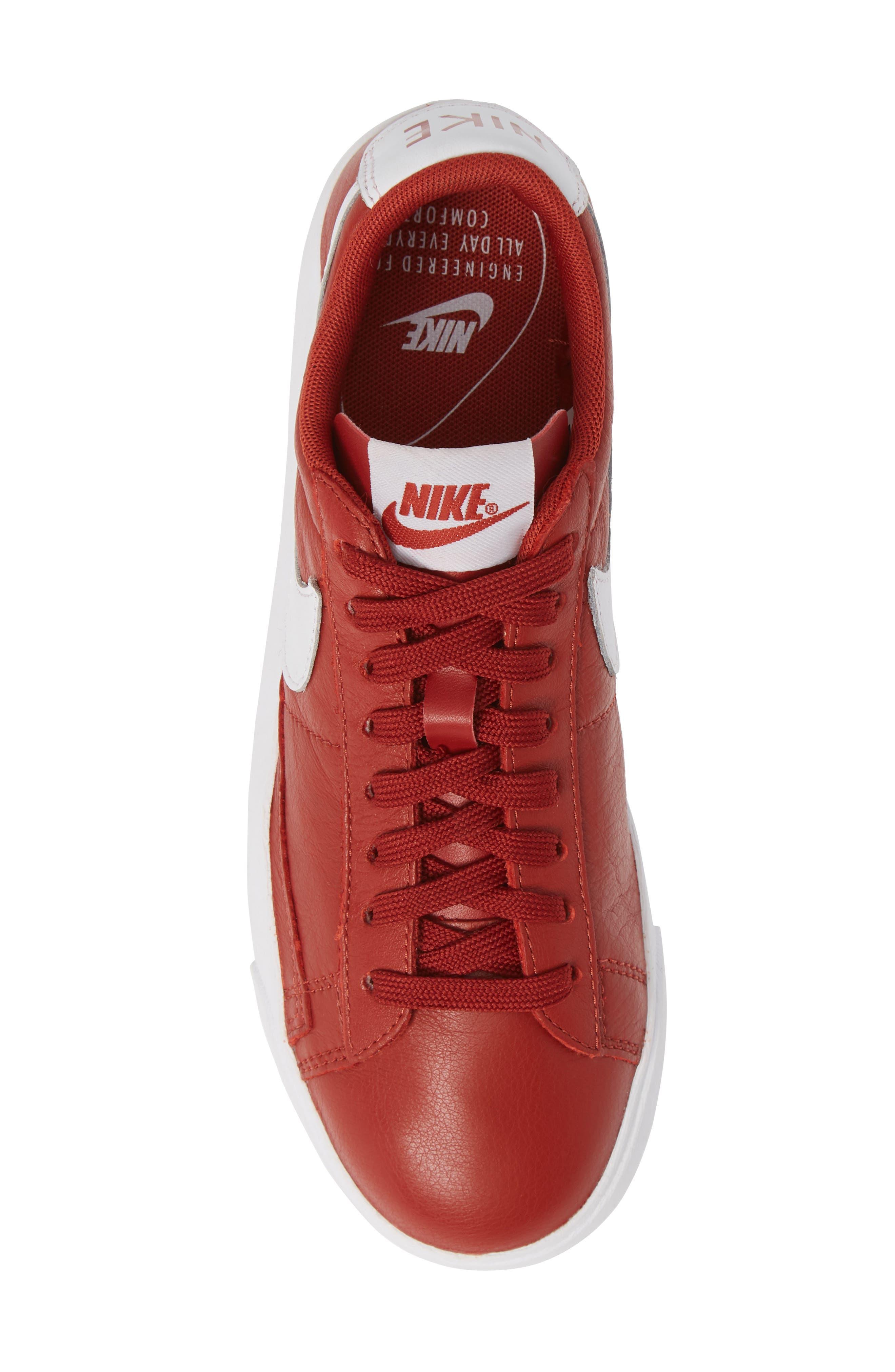 Blazer Low SE Sneaker,                             Alternate thumbnail 5, color,                             DUNE RED/ WHITE-DUNE RED