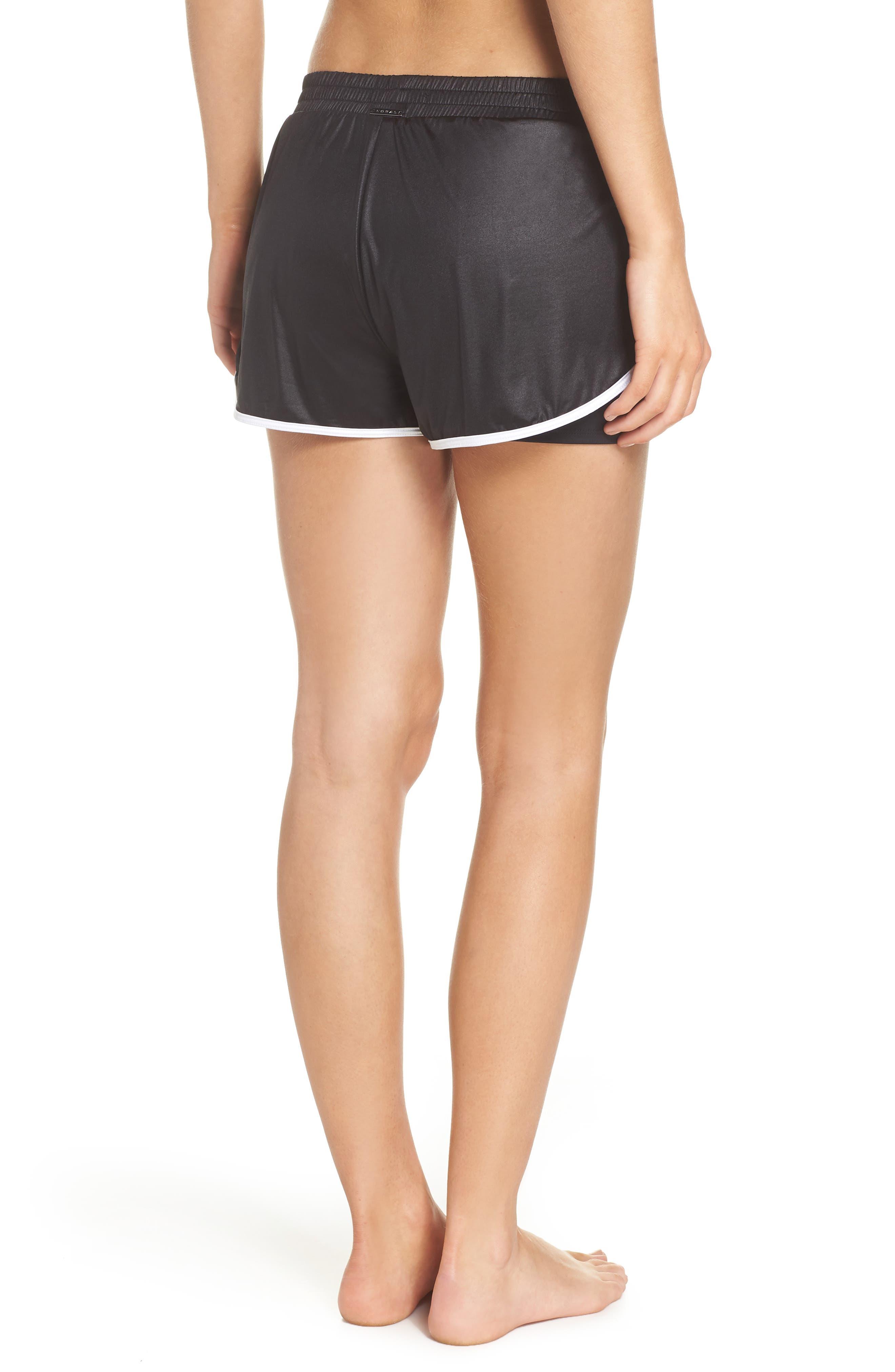 Scout Gym Shorts,                             Alternate thumbnail 2, color,                             BLACK/ WHITE
