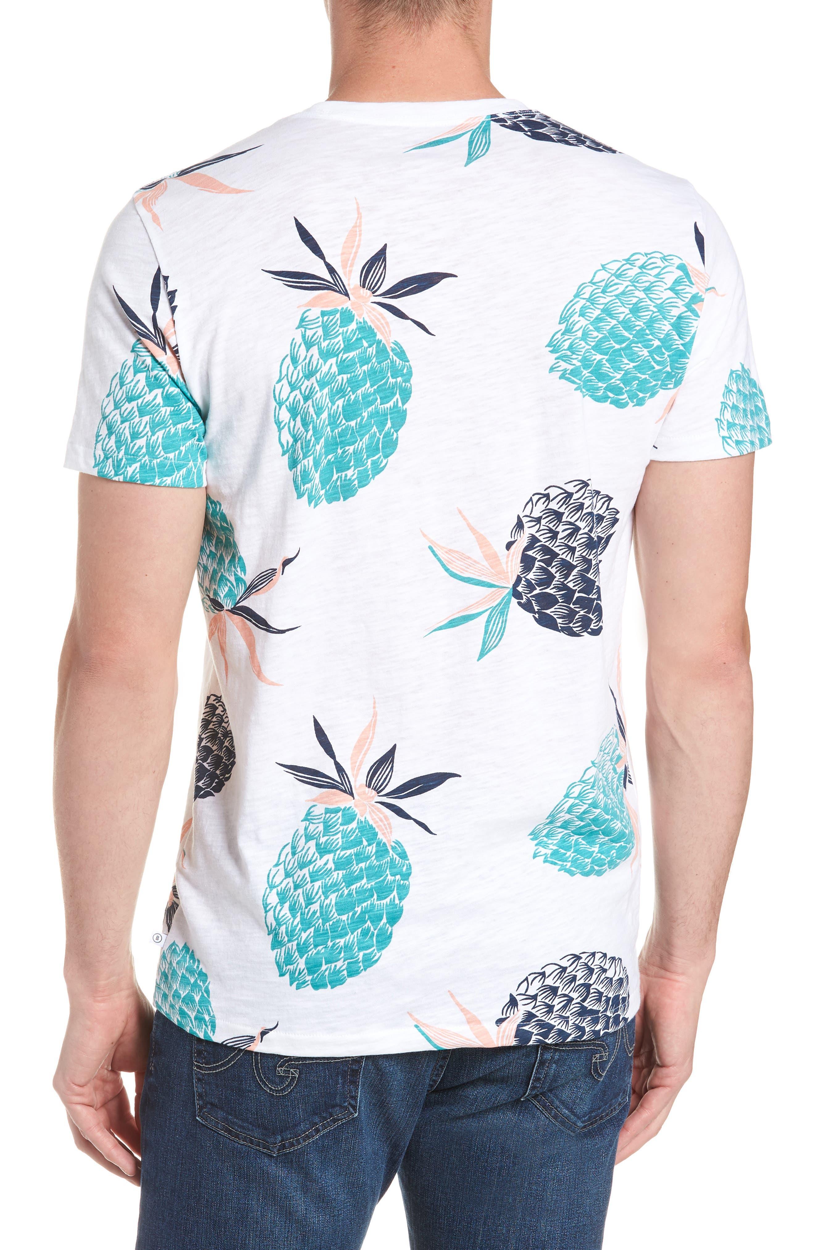 Pineapple Party Slim Fit T-Shirt,                             Alternate thumbnail 2, color,                             100