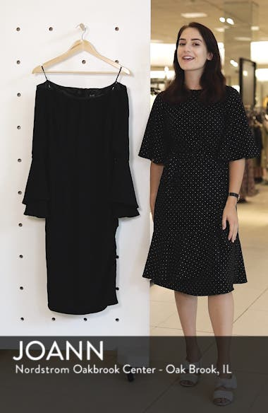 'Solange' Off the Shoulder Midi Dress, sales video thumbnail