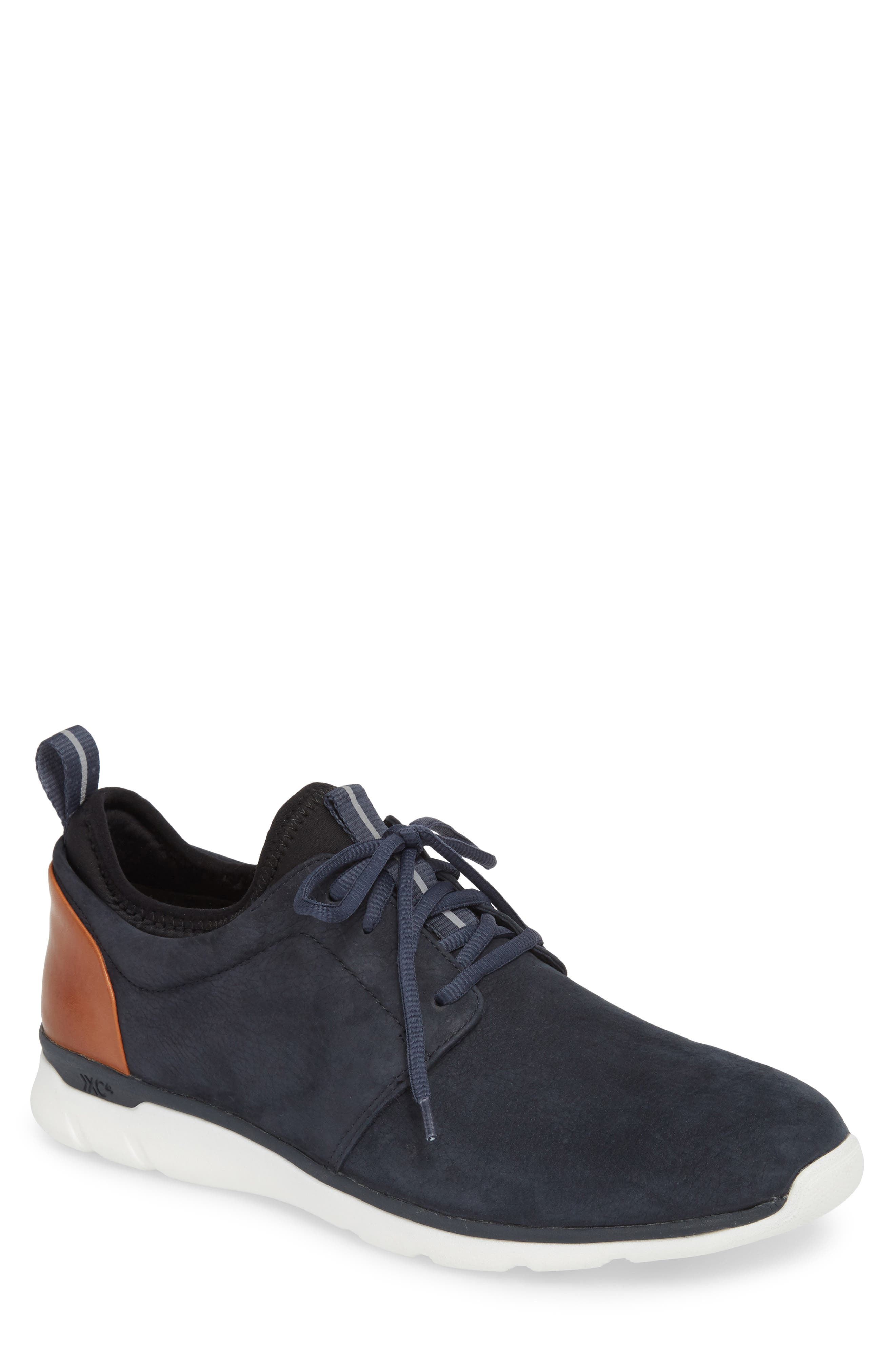 Prentiss XC4<sup>®</sup> Waterproof Low Top Sneaker,                         Main,                         color, NAVY NUBUCK