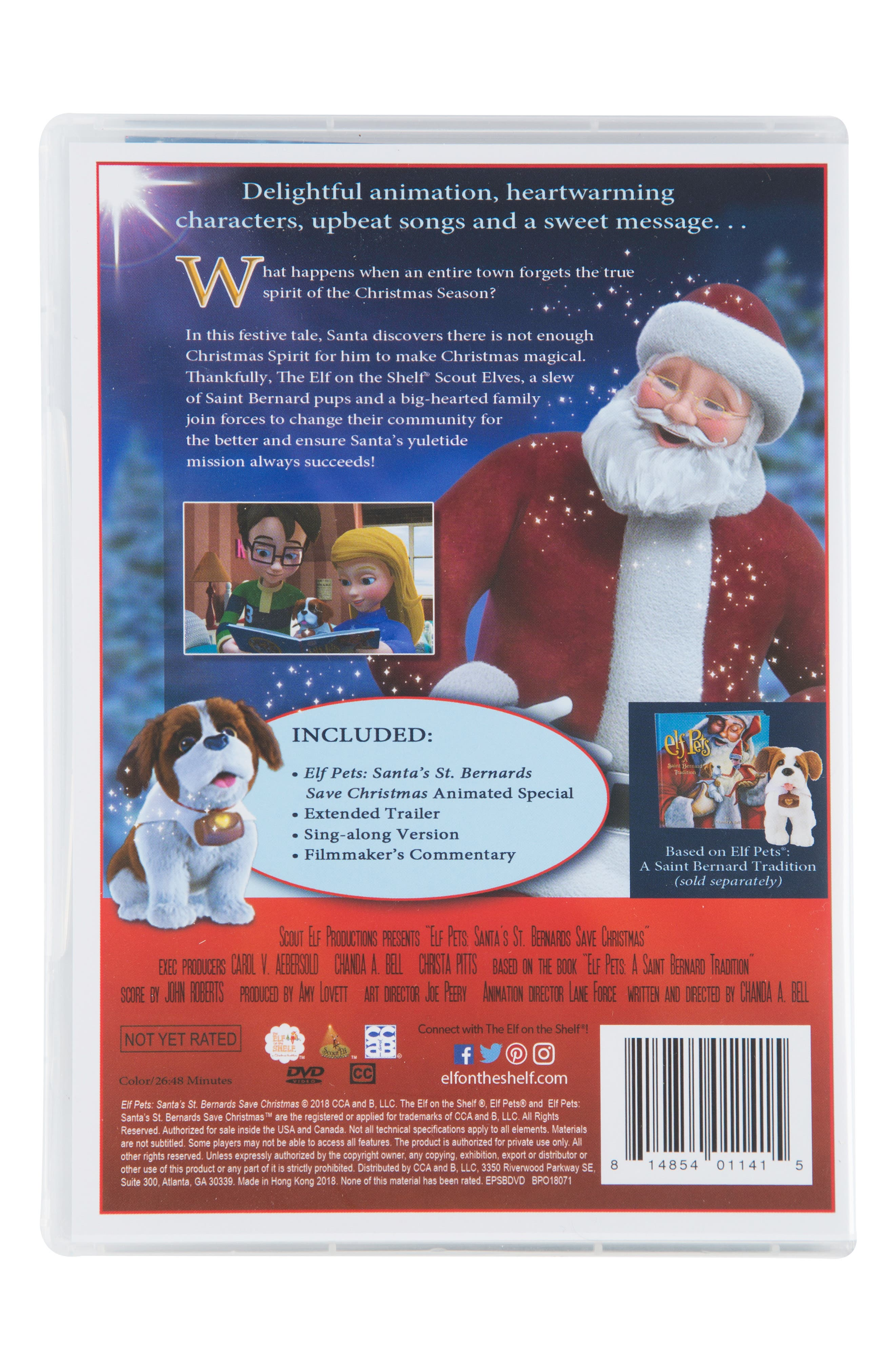 ELF ON THE SHELF,                             'Elf Pets: Santa's St. Bernards Save Christmas' DVD,                             Alternate thumbnail 2, color,                             960