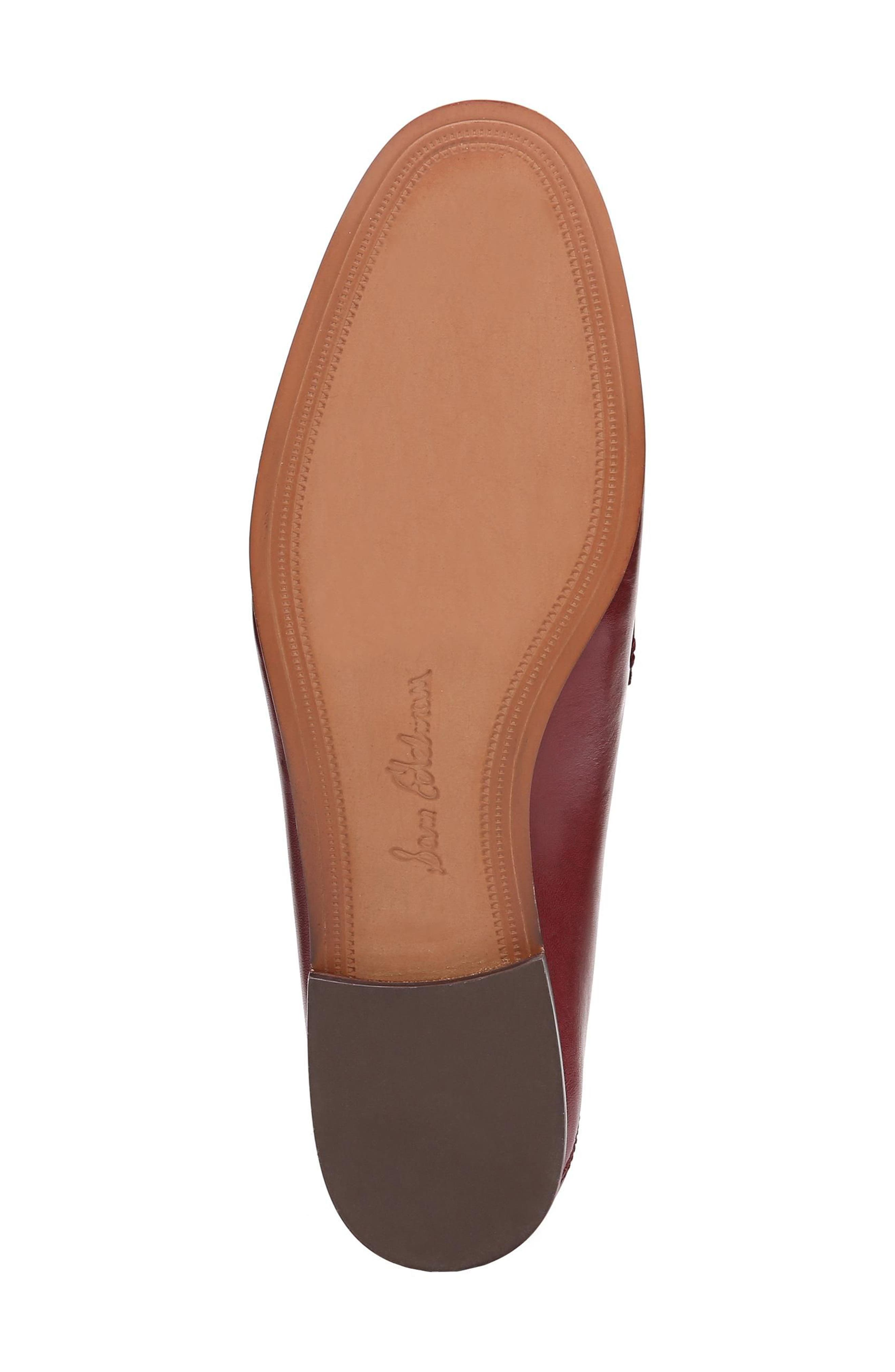 Lior Loafer,                             Alternate thumbnail 6, color,                             BEET RED LEATHER