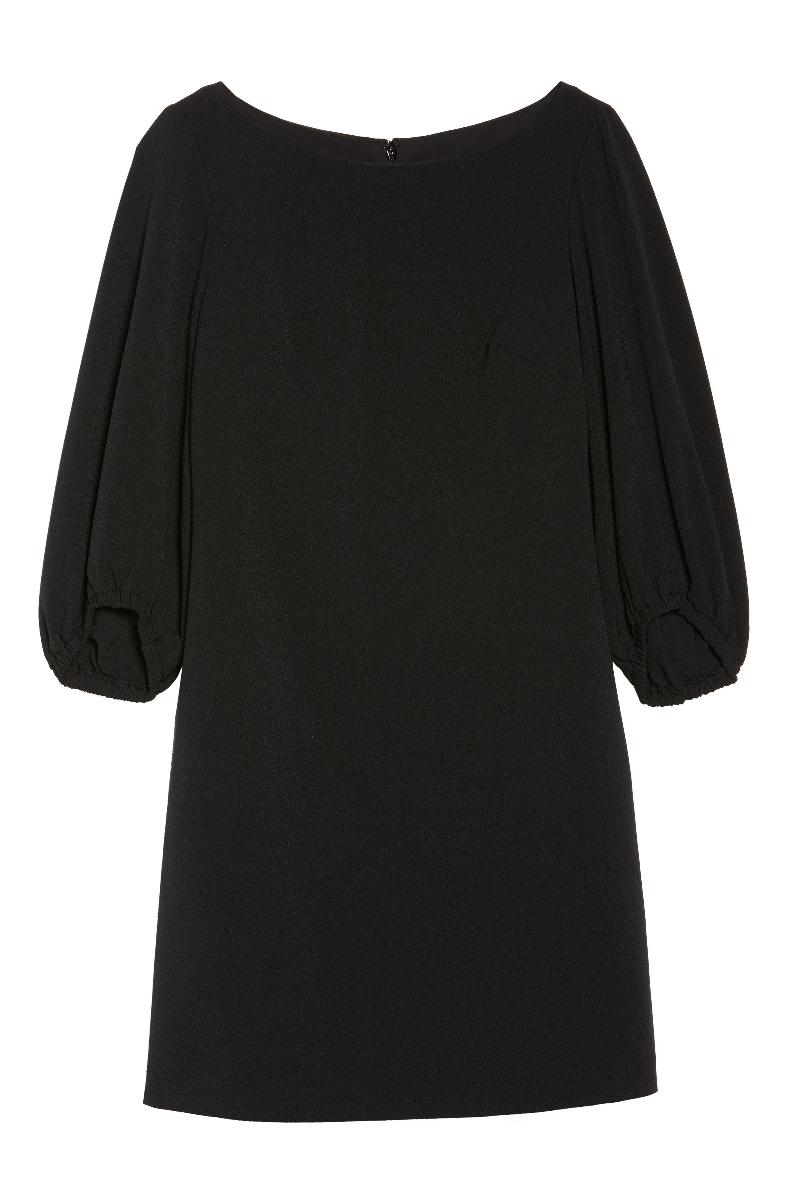Bloused Sleeve Shift Dress,                             Alternate thumbnail 7, color,                             001