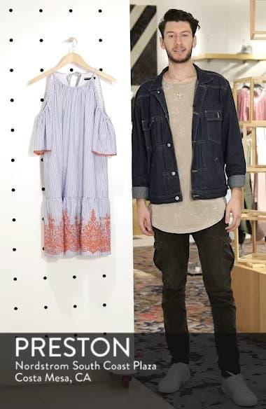 Stripe Cold Shoulder Shift Dress, sales video thumbnail