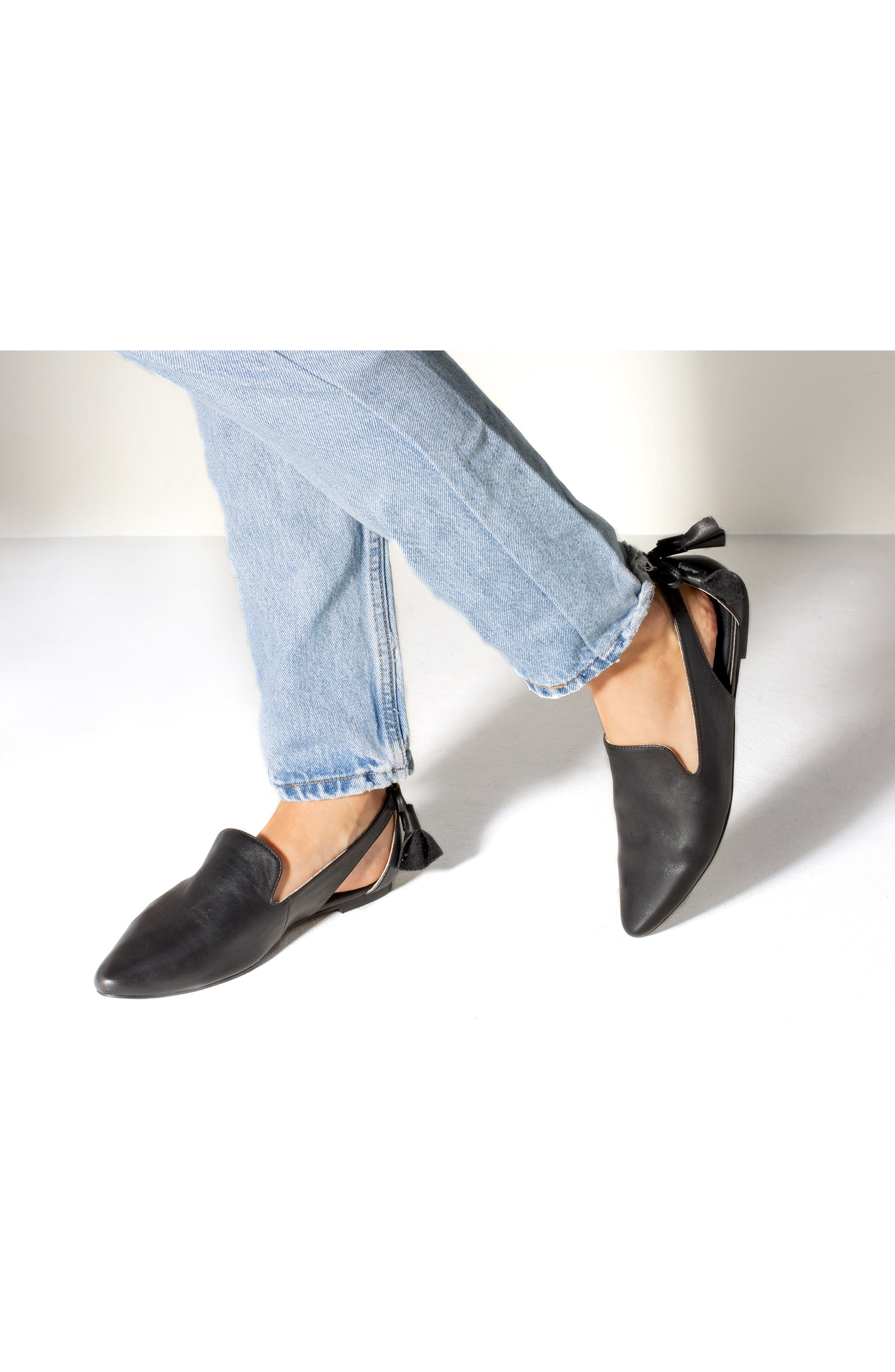 Songbird Loafer,                             Alternate thumbnail 7, color,                             BLACK LEATHER
