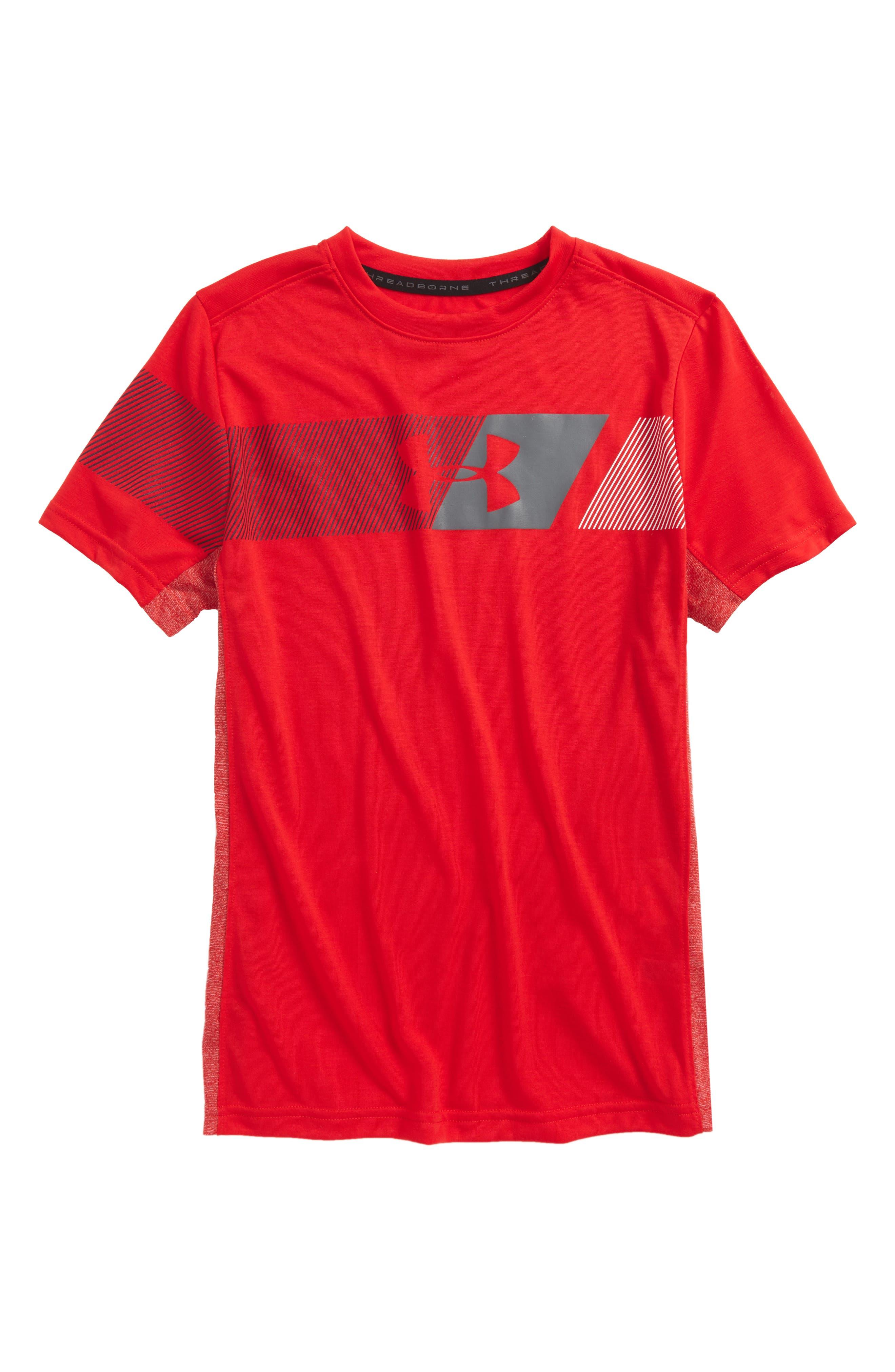 Threadborne HeatGear<sup>®</sup> T-Shirt,                             Main thumbnail 2, color,