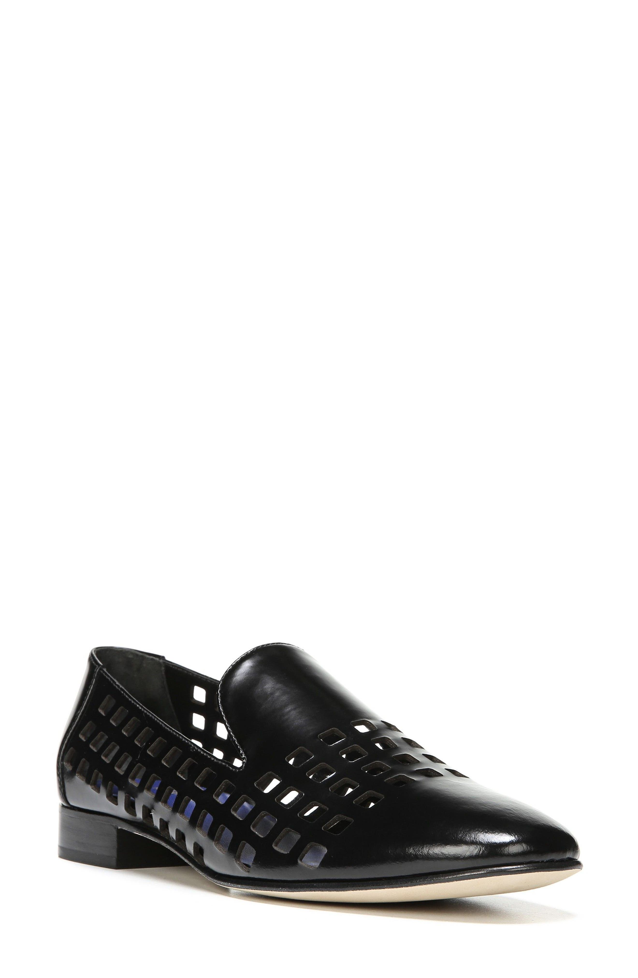 Linz Perforated Loafer,                             Main thumbnail 1, color,                             001