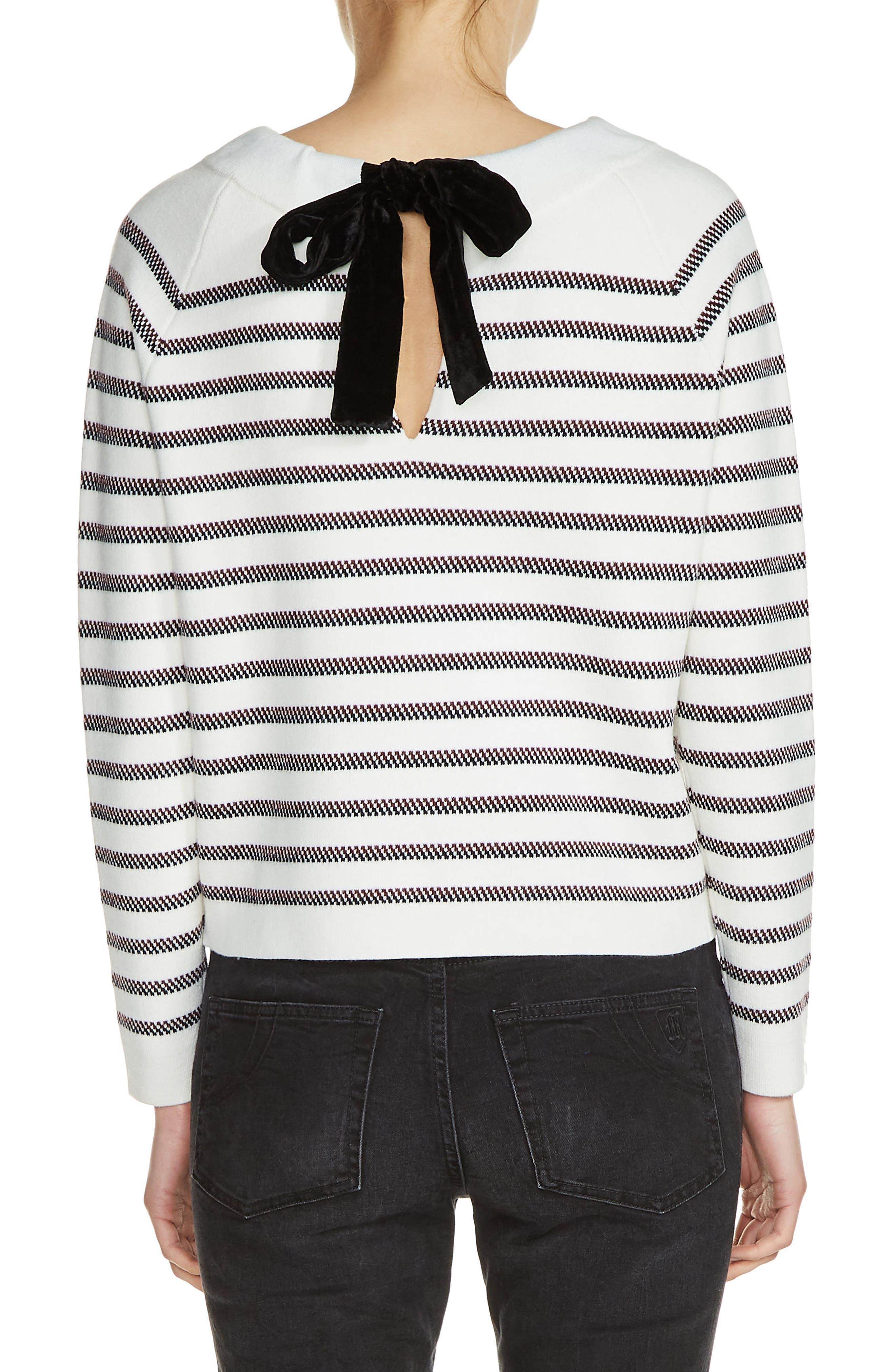 Bow Back Stripe Sweater,                             Alternate thumbnail 2, color,                             900