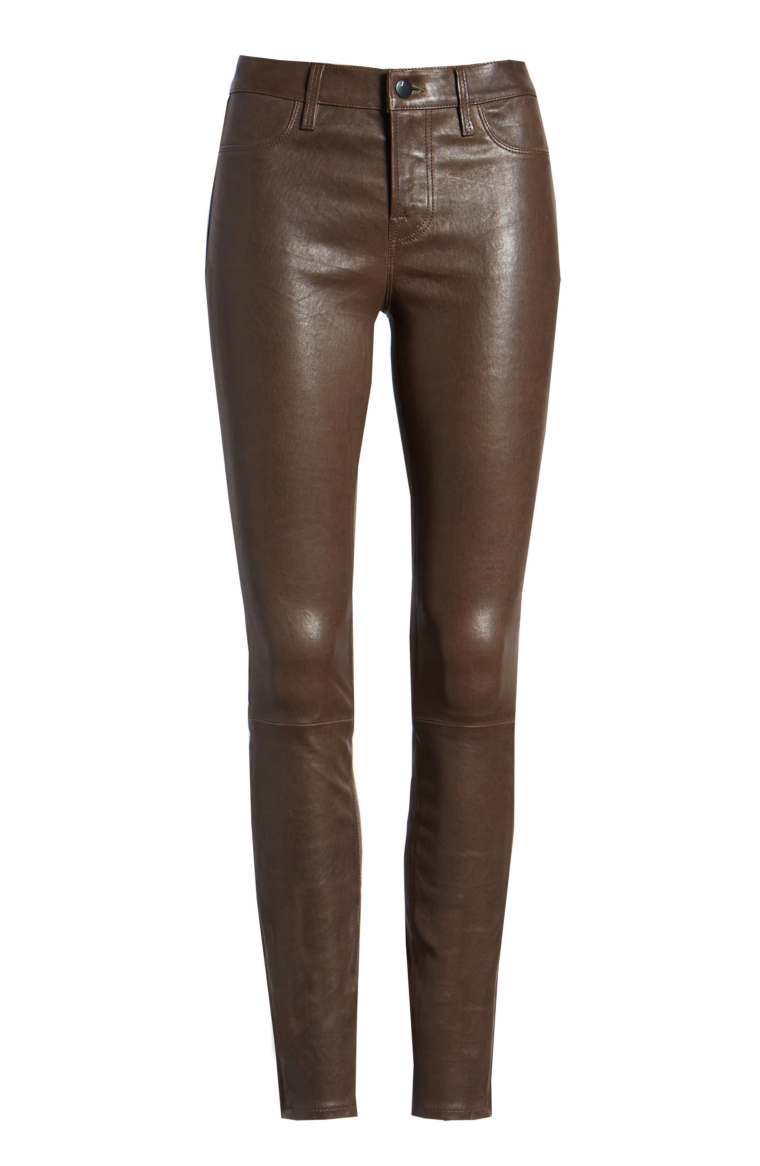 '8001' Lambskin Leather Pants,                             Alternate thumbnail 82, color,
