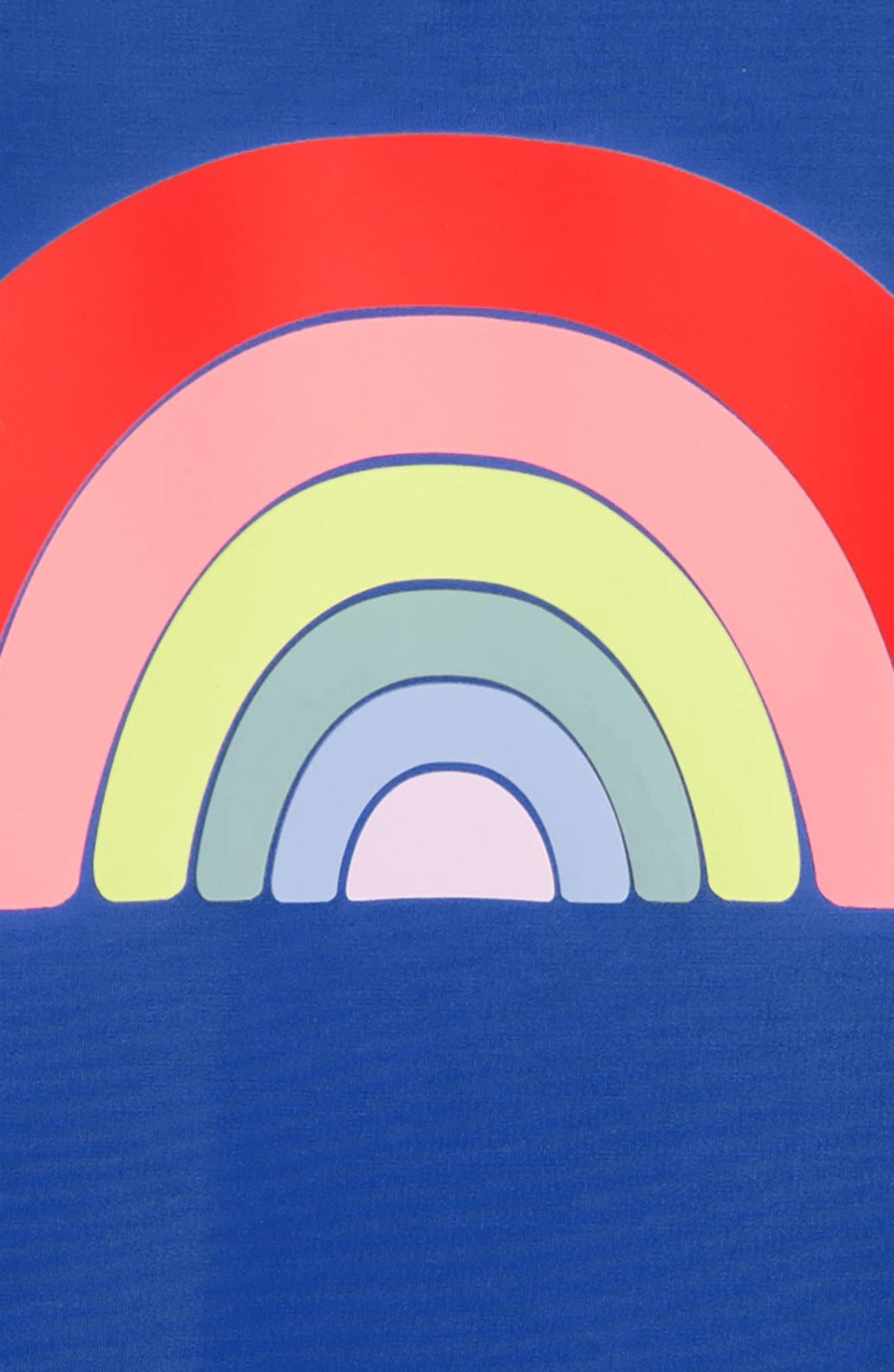 Rainbow Stripe Rashguard Set,                             Alternate thumbnail 2, color,                             HEATHER LILAC CLOSED EYE
