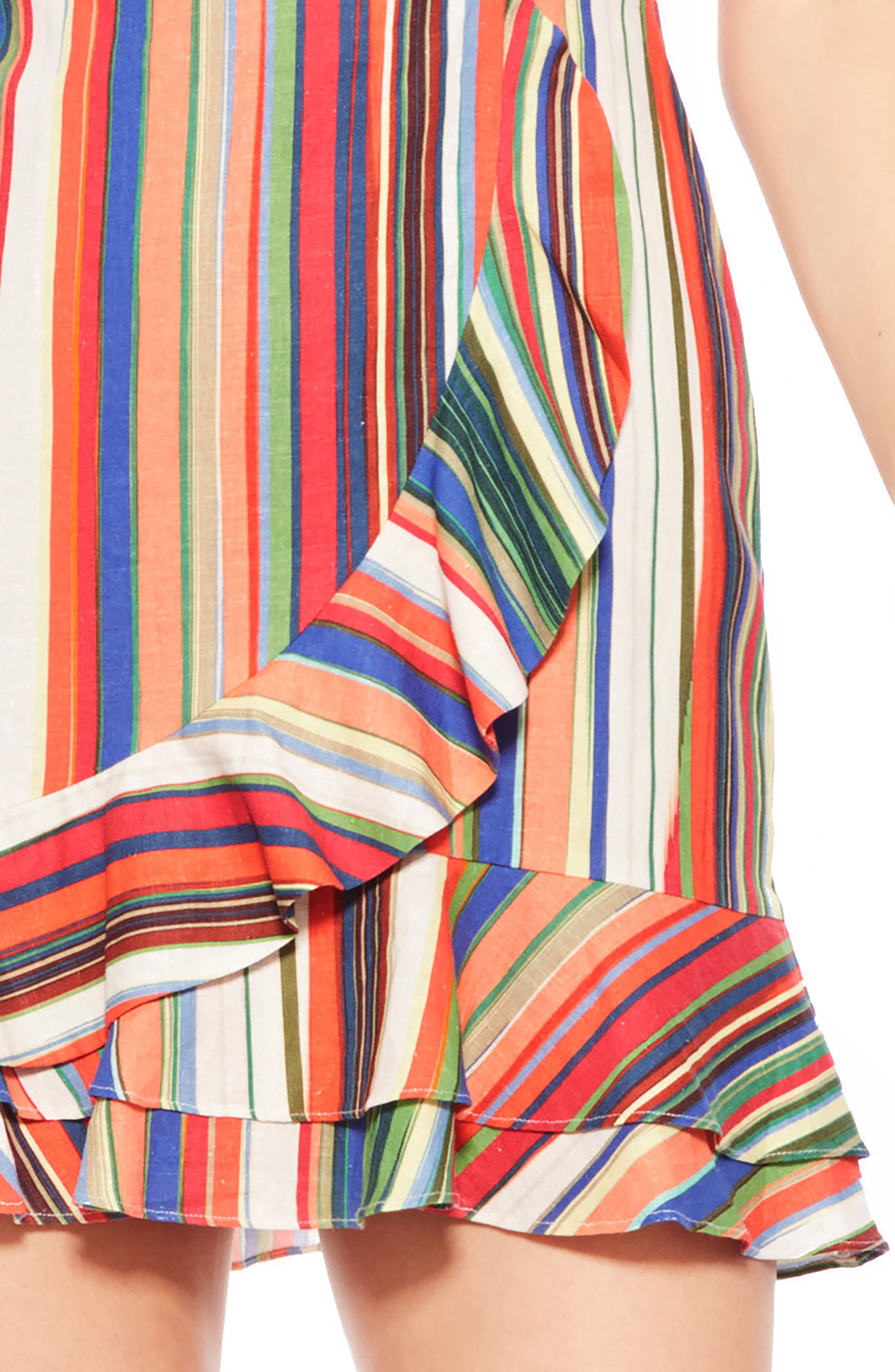 Jay Stripe Dress,                             Alternate thumbnail 4, color,                             606
