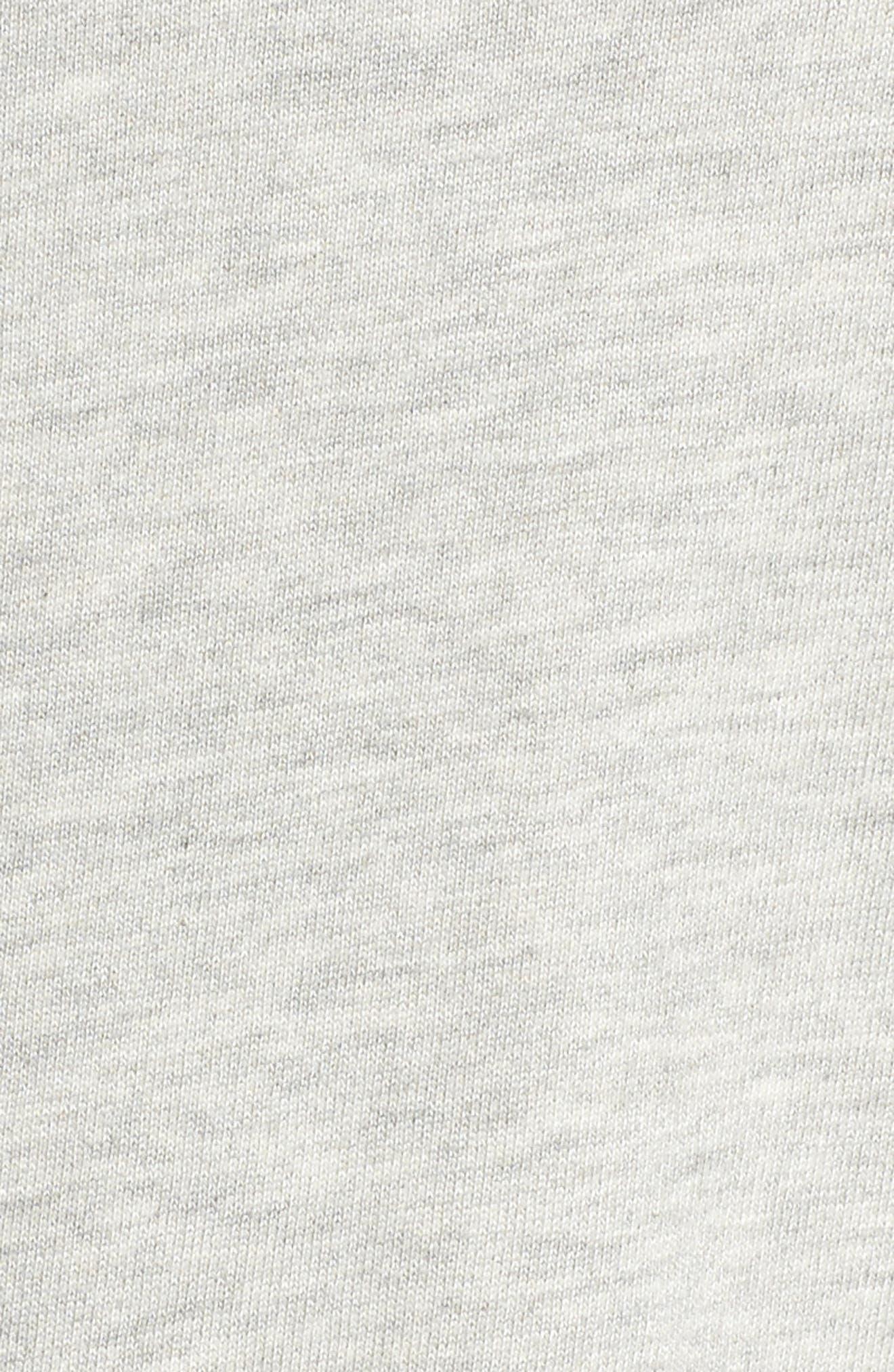 Ruffle Sweatshirt,                             Alternate thumbnail 5, color,                             HEATHER GREY