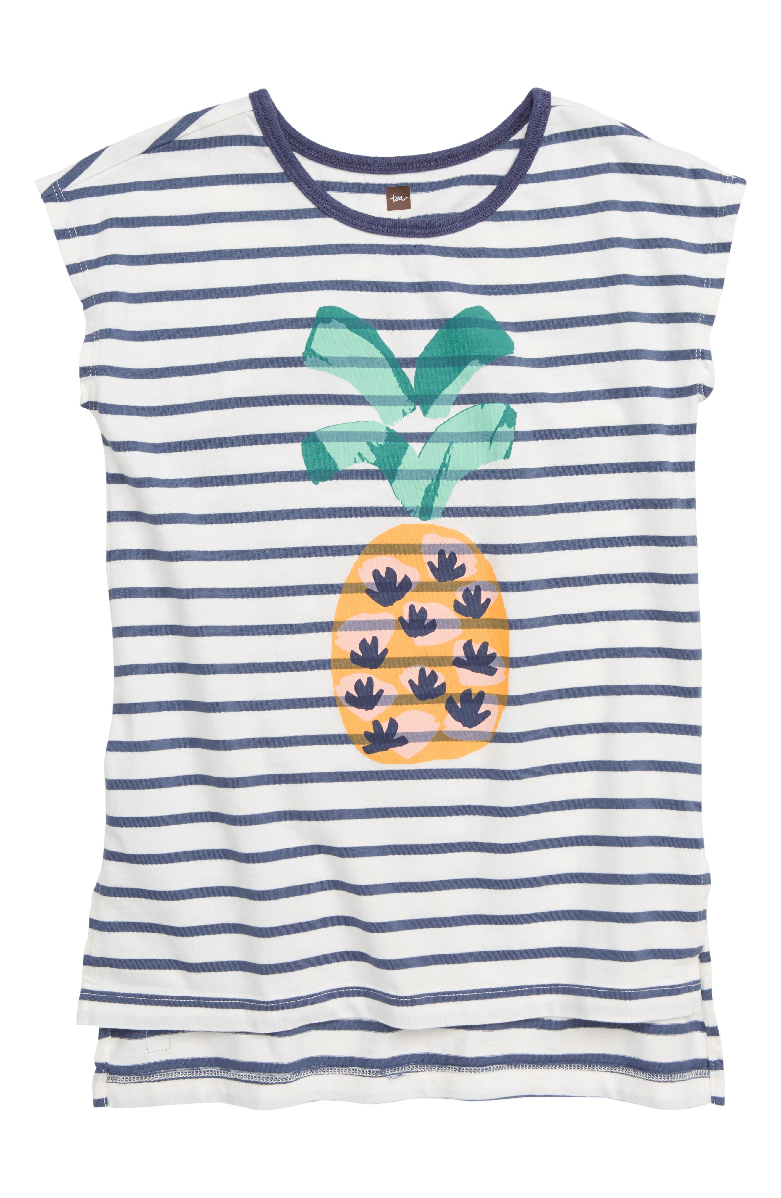 Pineapple Hi/Low Tunic,                             Main thumbnail 1, color,                             CROWN BLUE