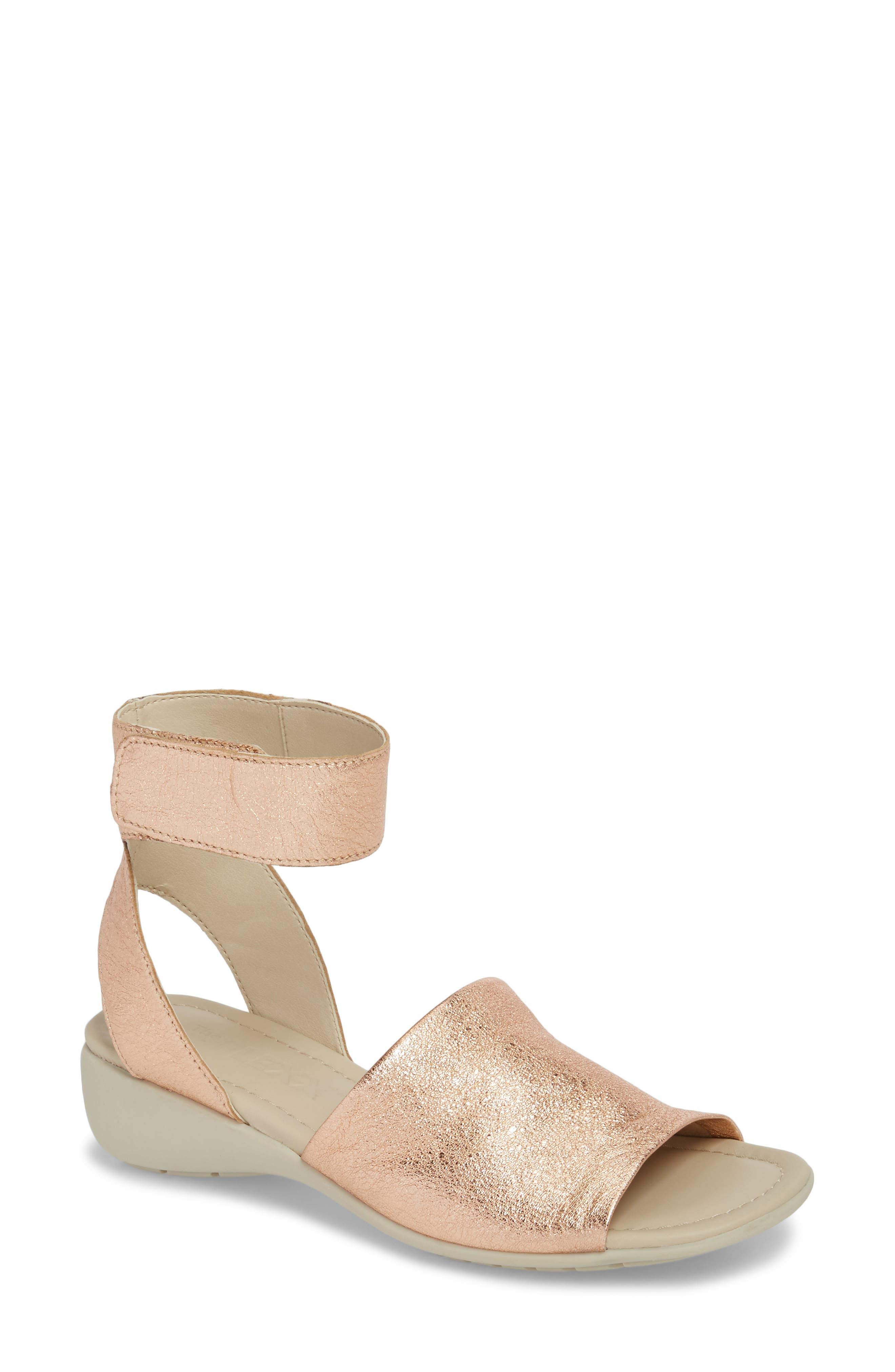 'Beglad' Leather Ankle Strap Sandal,                             Main thumbnail 4, color,