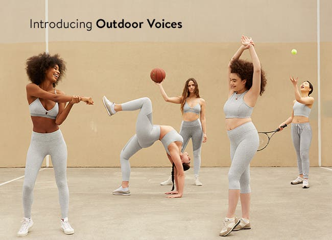 Introducing Outdoor Voices activewear.