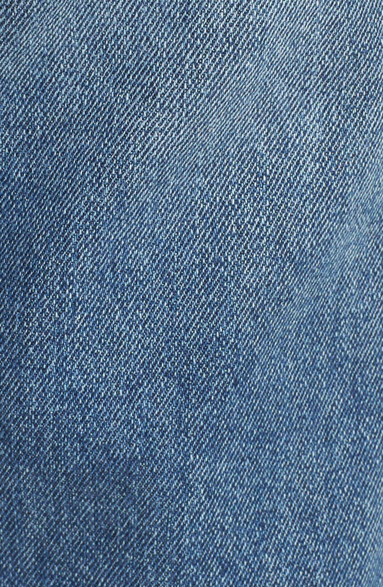 Ankle Straight Leg Jeans,                             Alternate thumbnail 6, color,                             MEDIUM WASH