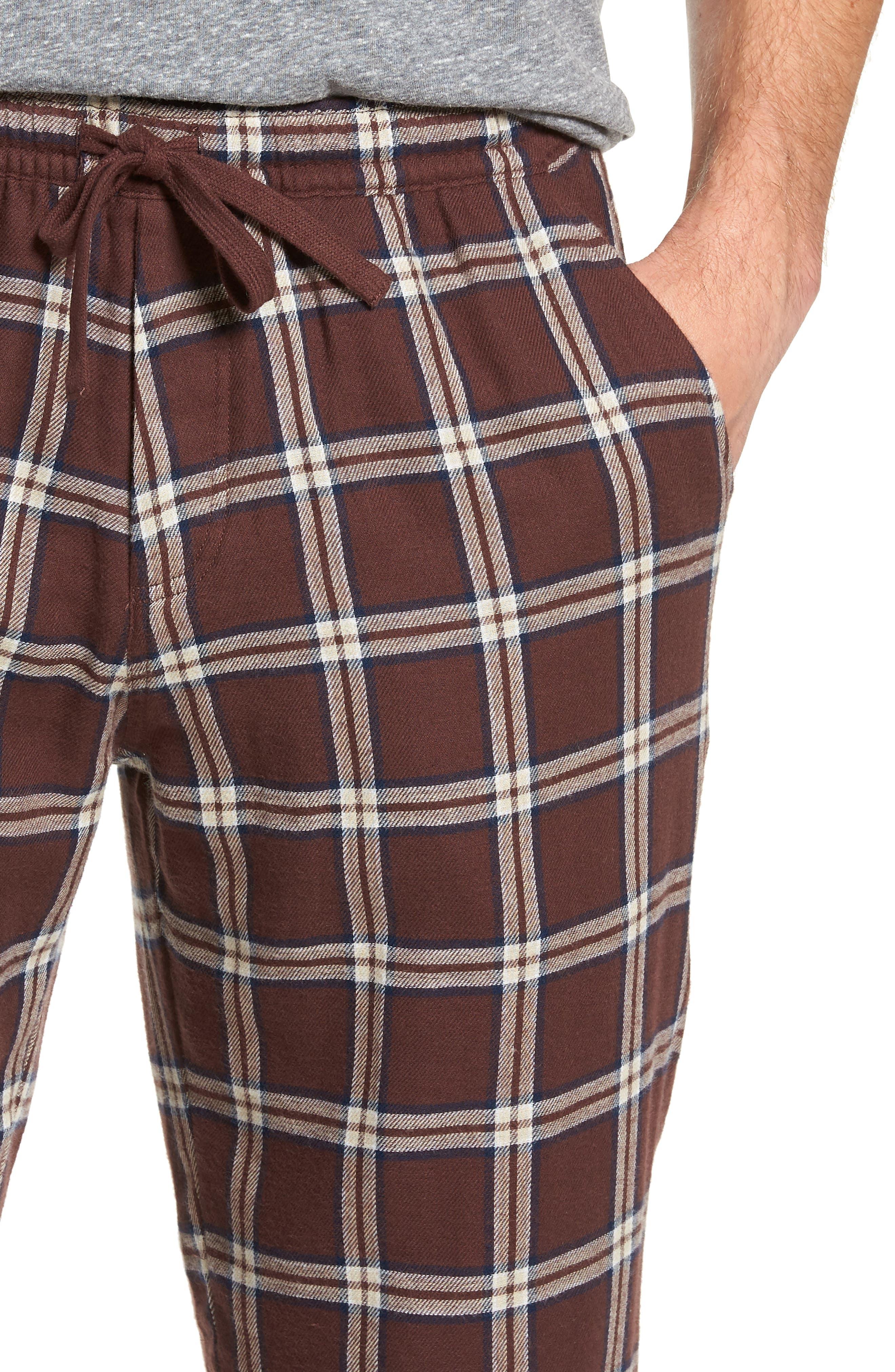 Grant Pajama Set,                             Alternate thumbnail 4, color,                             PORT/ GREY HEATHER