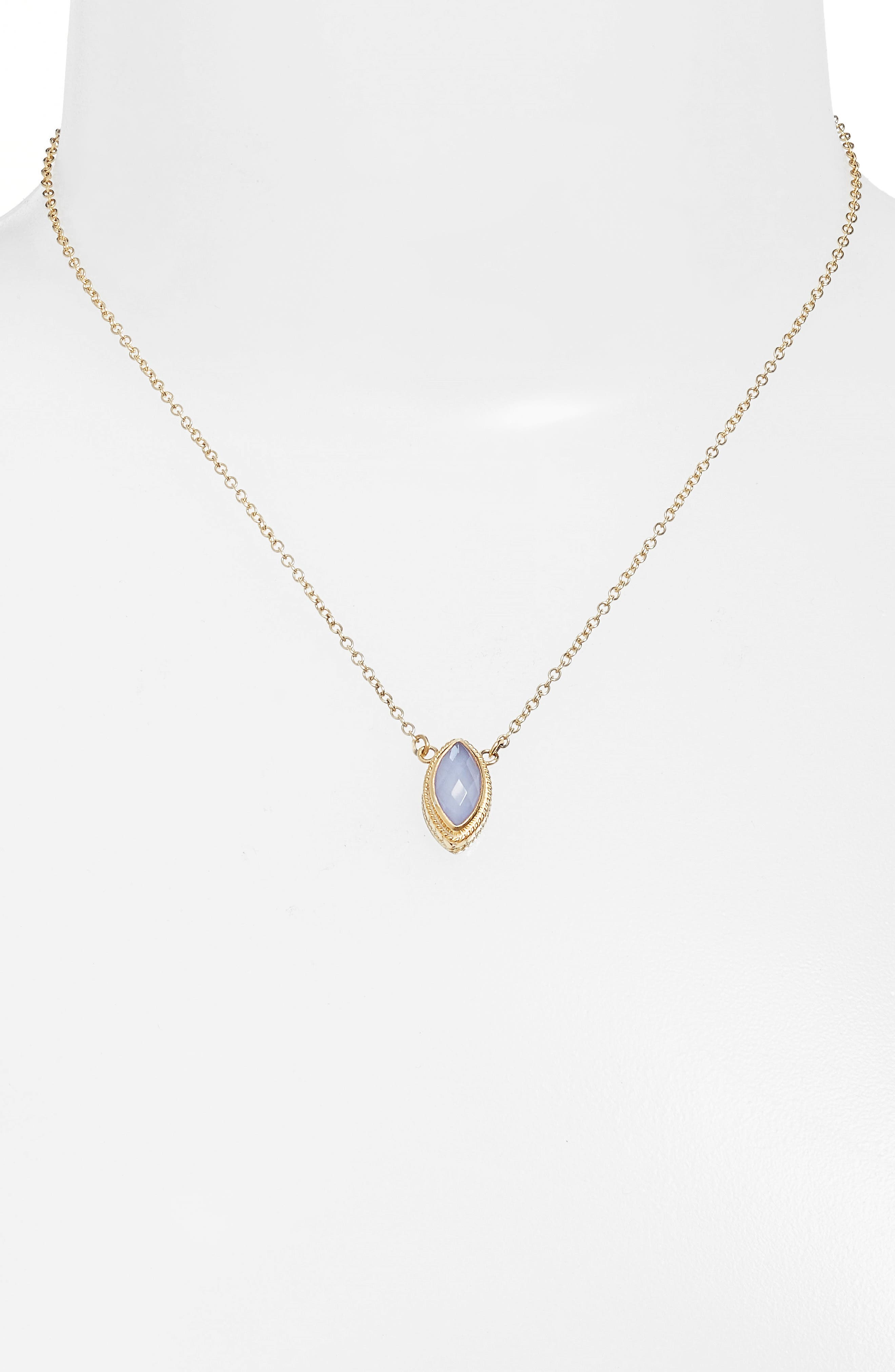 Chalcedony Doublet Pendant Necklace,                             Alternate thumbnail 2, color,                             400