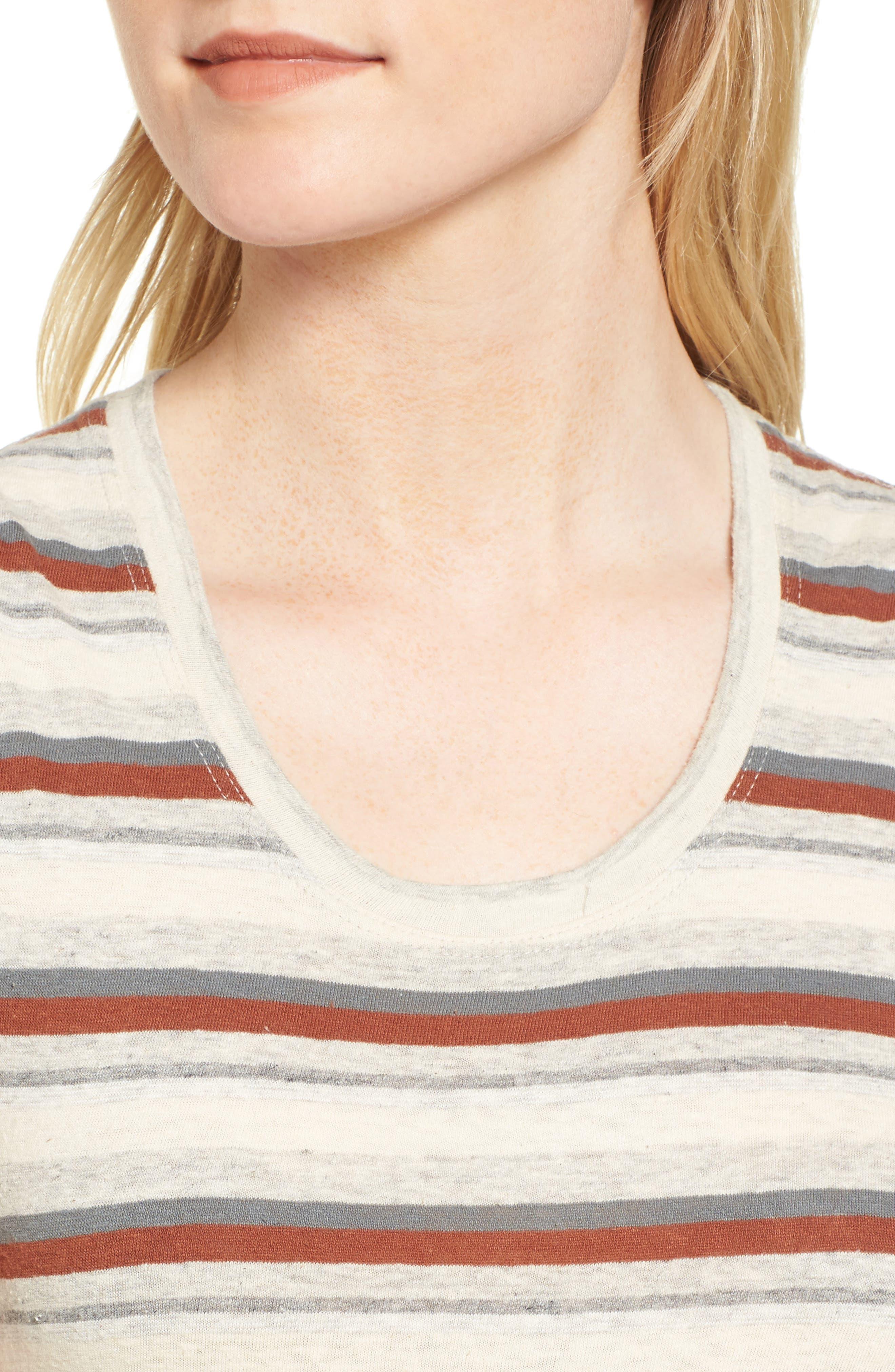 Sleeveless Stripe Dress,                             Alternate thumbnail 4, color,                             038