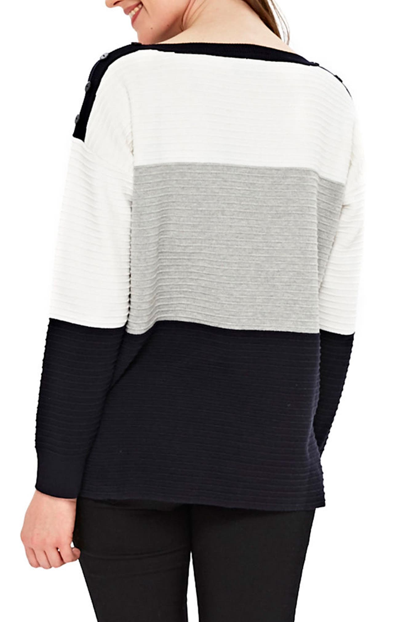Colorblock Ottoman Knit Sweater,                             Alternate thumbnail 2, color,                             900