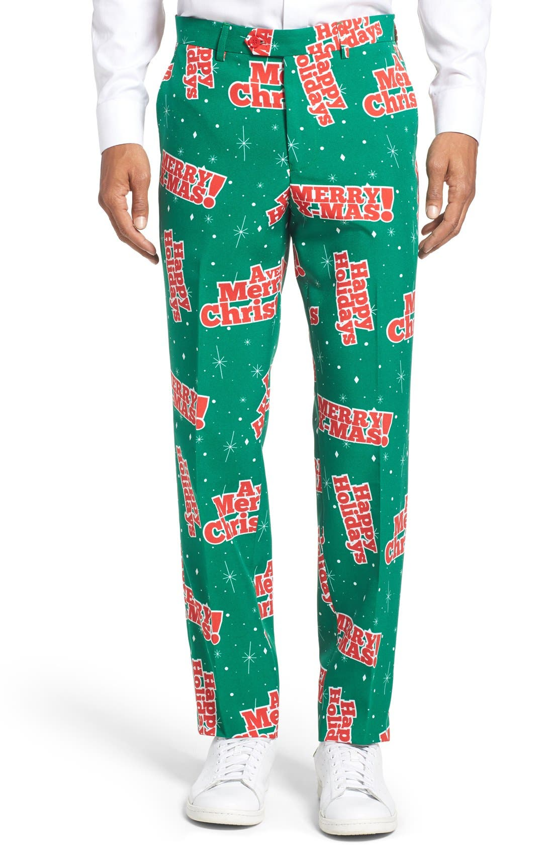 'Happy Holidude' Trim Fit Two-Piece Suit with Tie,                             Alternate thumbnail 6, color,                             301