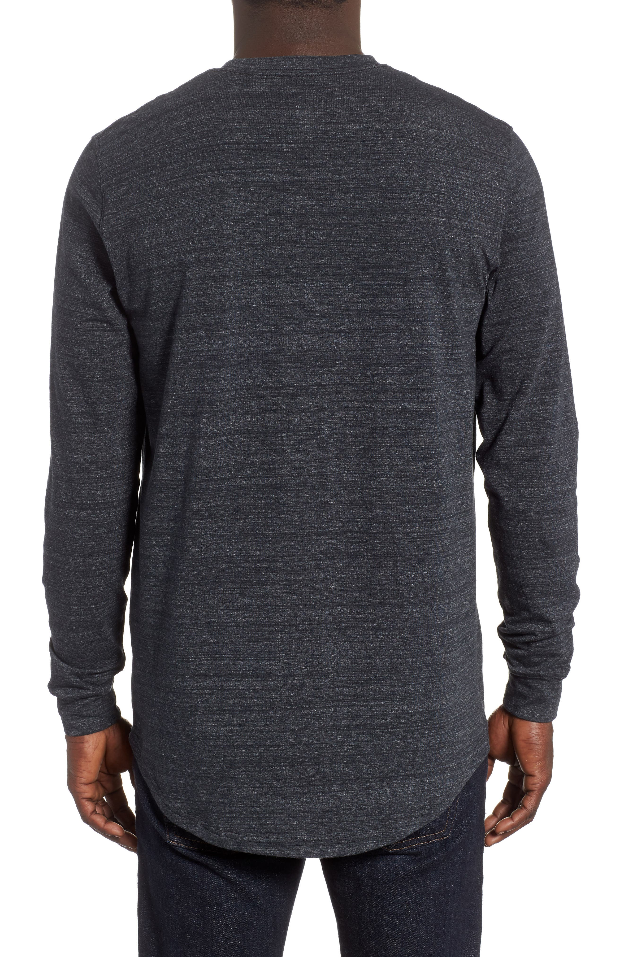 Sportstyle Long Sleeve Performance T-Shirt,                             Alternate thumbnail 2, color,                             BLACK/ STEEL