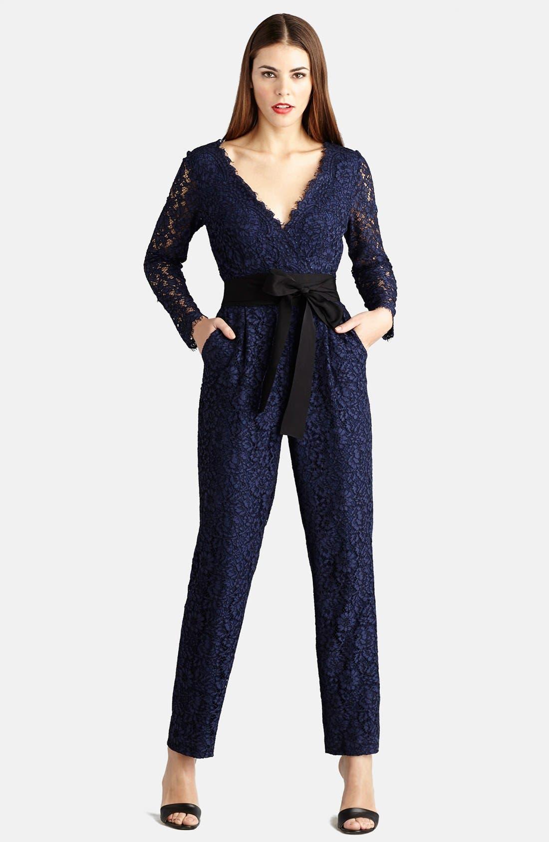Lace Jumpsuit, Main, color, 414