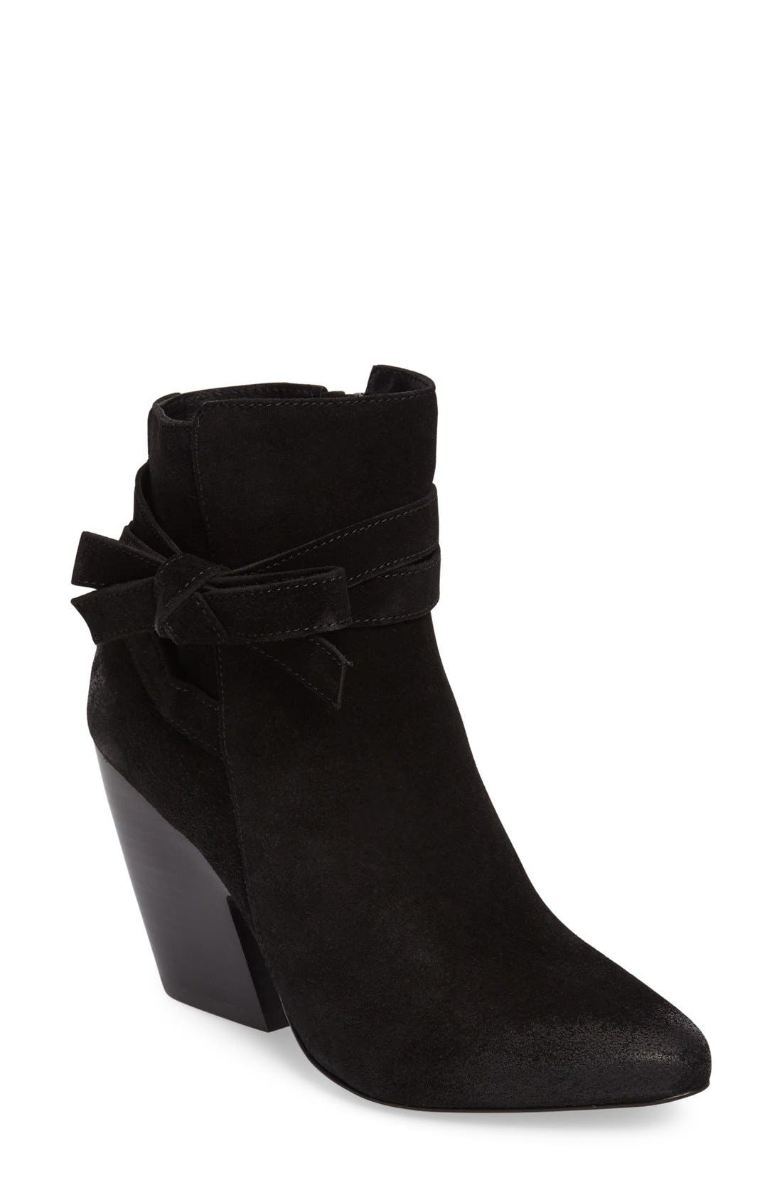 Jax Block Heel Bootie,                         Main,                         color, 001