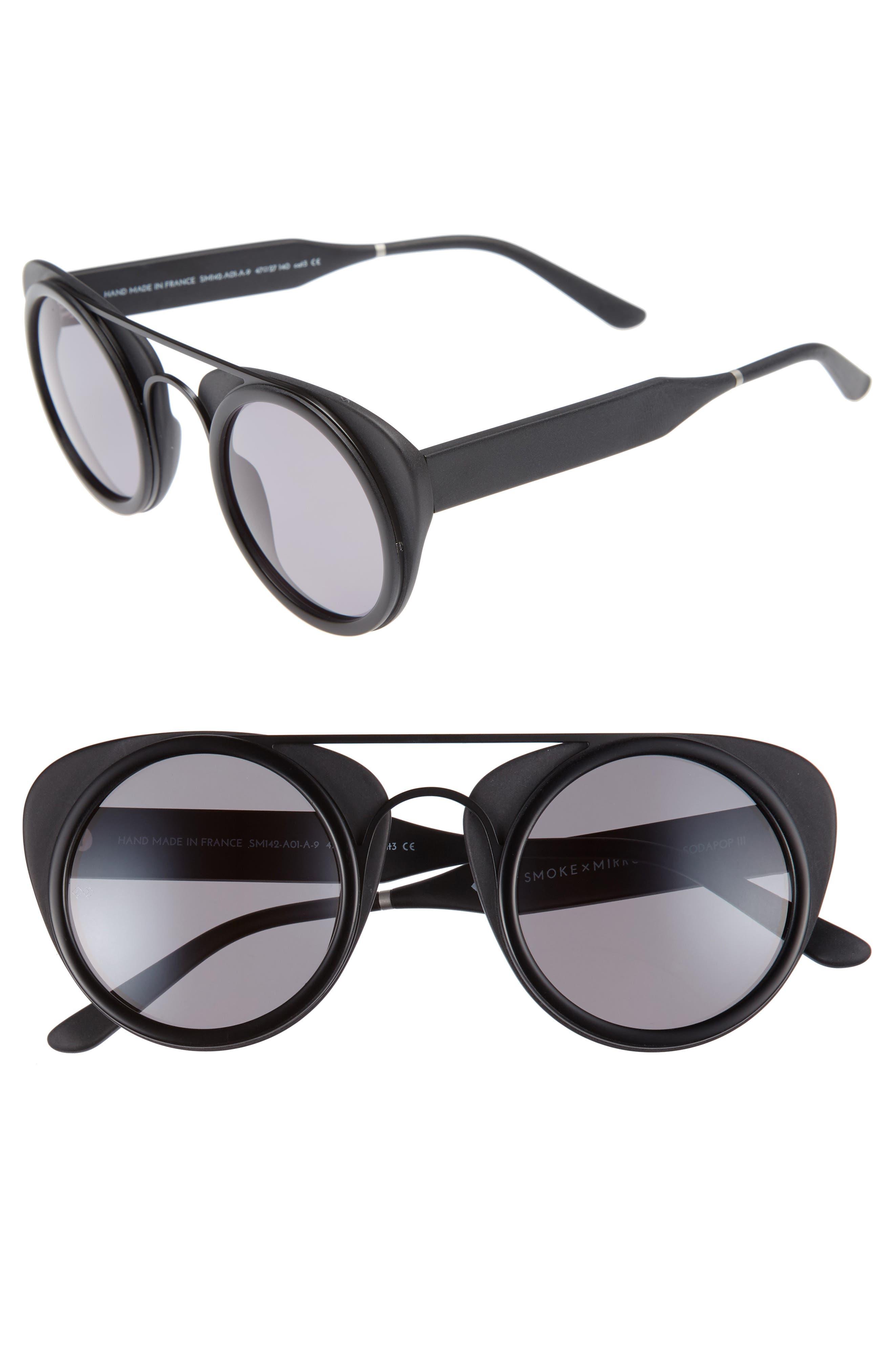 Soda Pop 3 47mm Retro Sunglasses,                         Main,                         color, 001