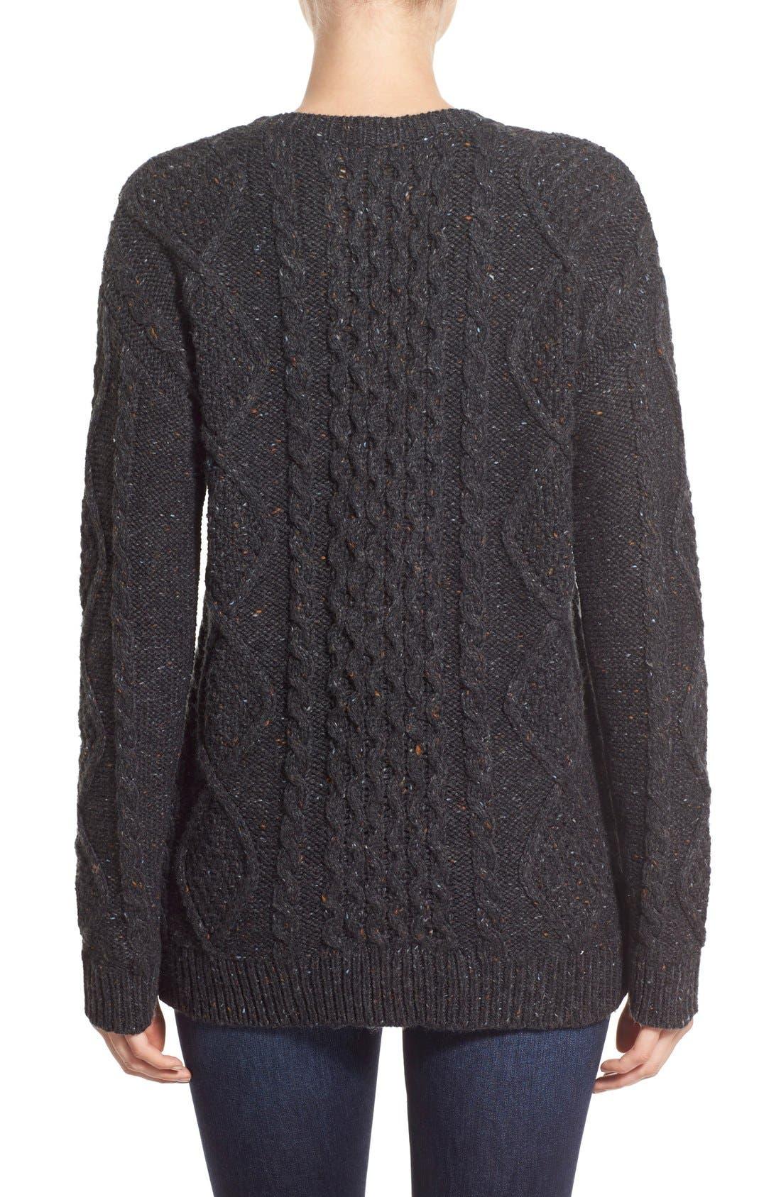 Treasure&Bond Cable Knit Sweater,                             Alternate thumbnail 3, color,                             020