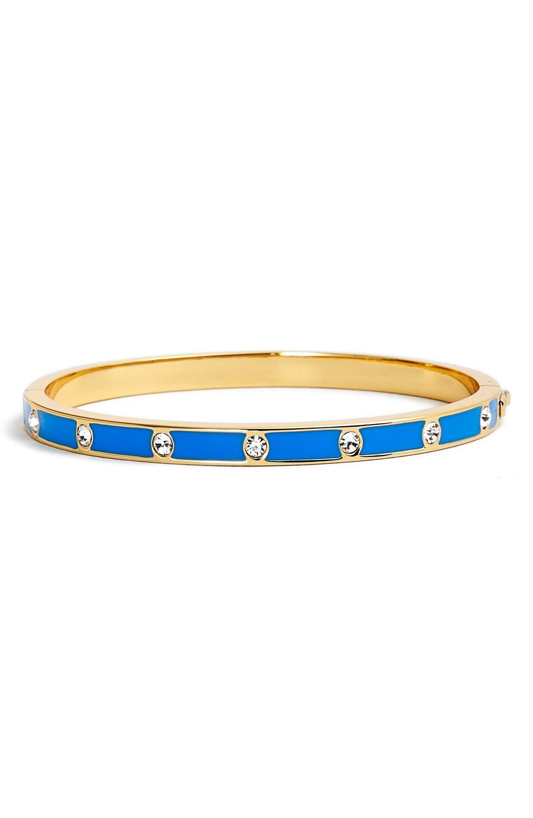 crystal & enamel hinge bangle,                             Main thumbnail 6, color,