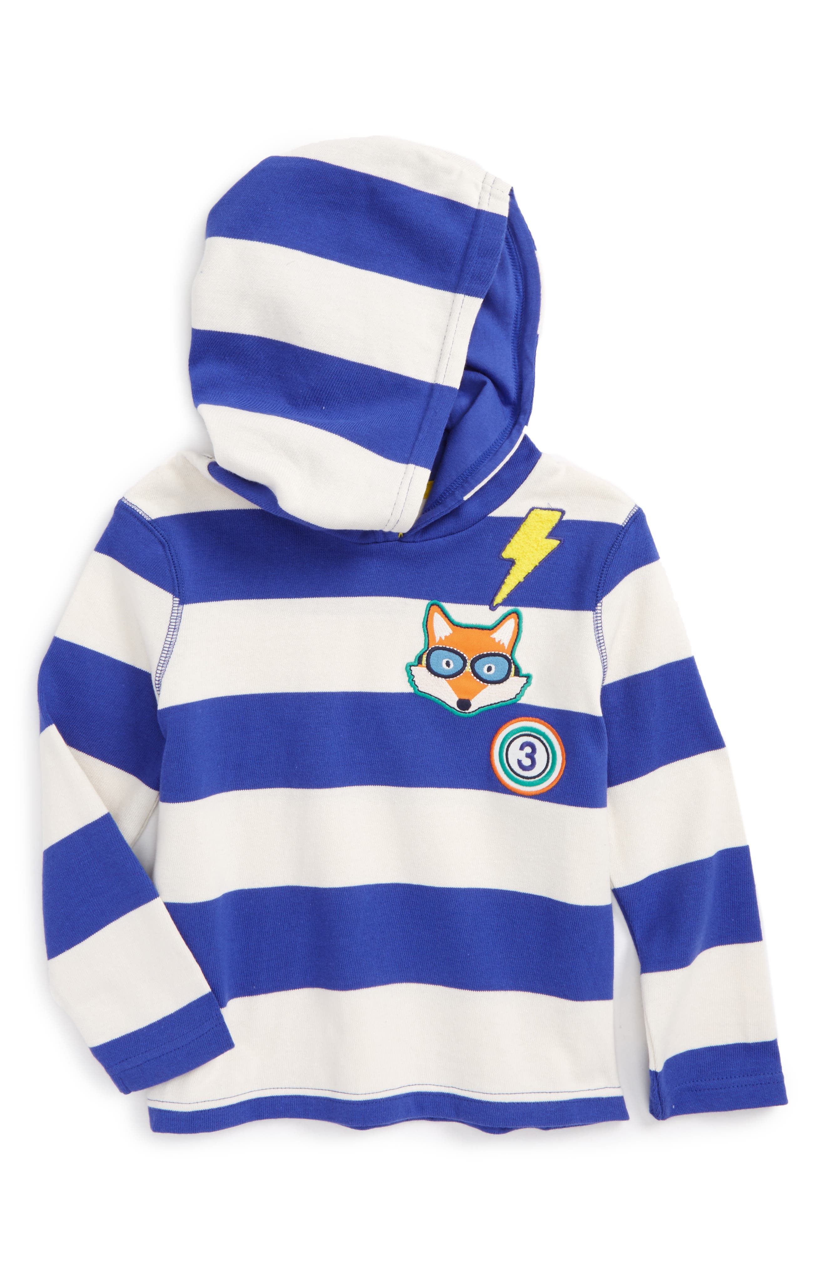 Stripy Patch Hoodie,                             Main thumbnail 1, color,                             404