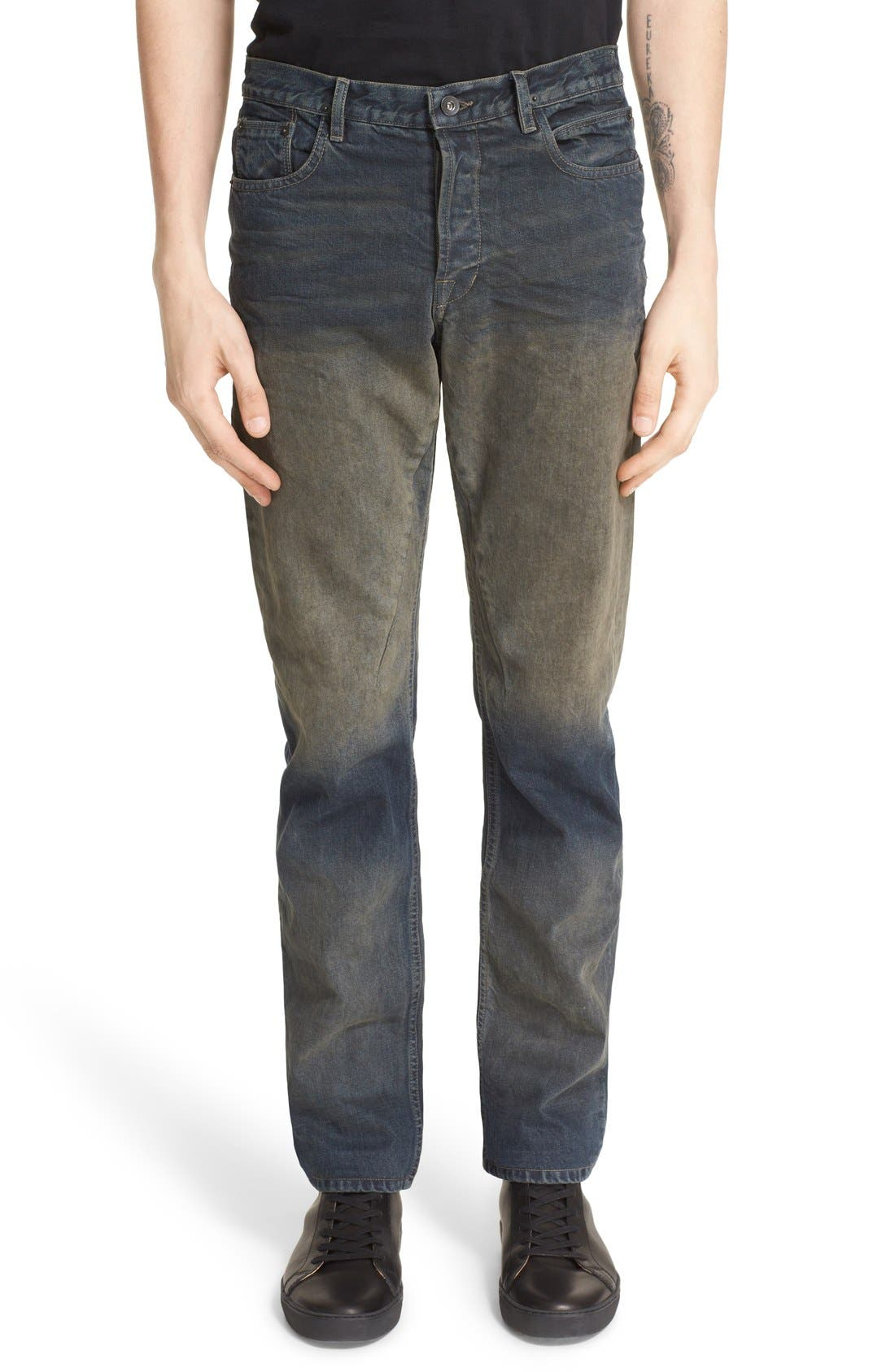 'Hustler' Berlin Fit Straight Leg Jeans, Main, color, 400