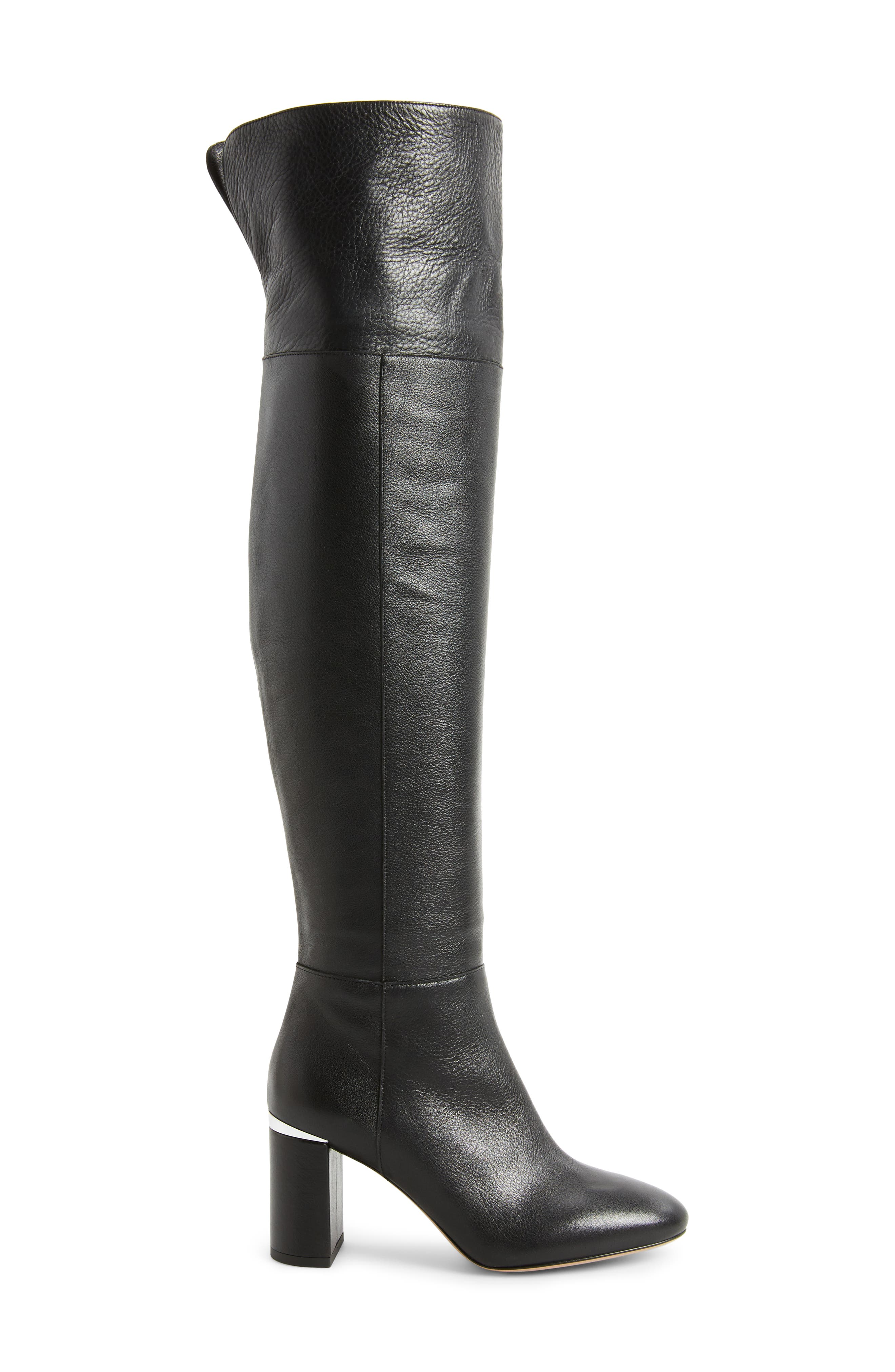 Renata Cuff Over the Knee Boot,                             Alternate thumbnail 3, color,                             001