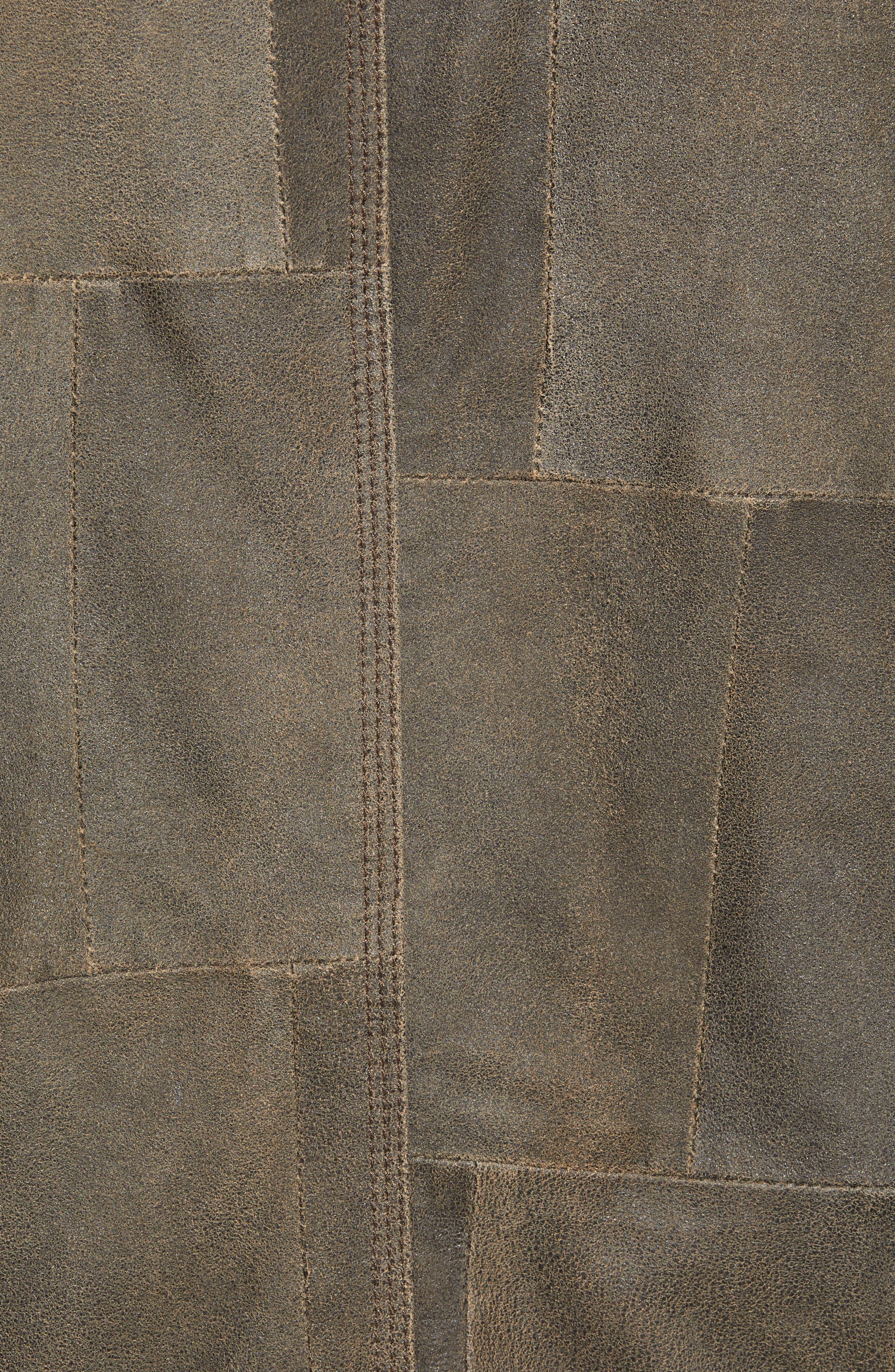 JOHN VARVATOS STAR USA,                             Patchwork Goat Leather Jacket,                             Alternate thumbnail 7, color,                             RYE