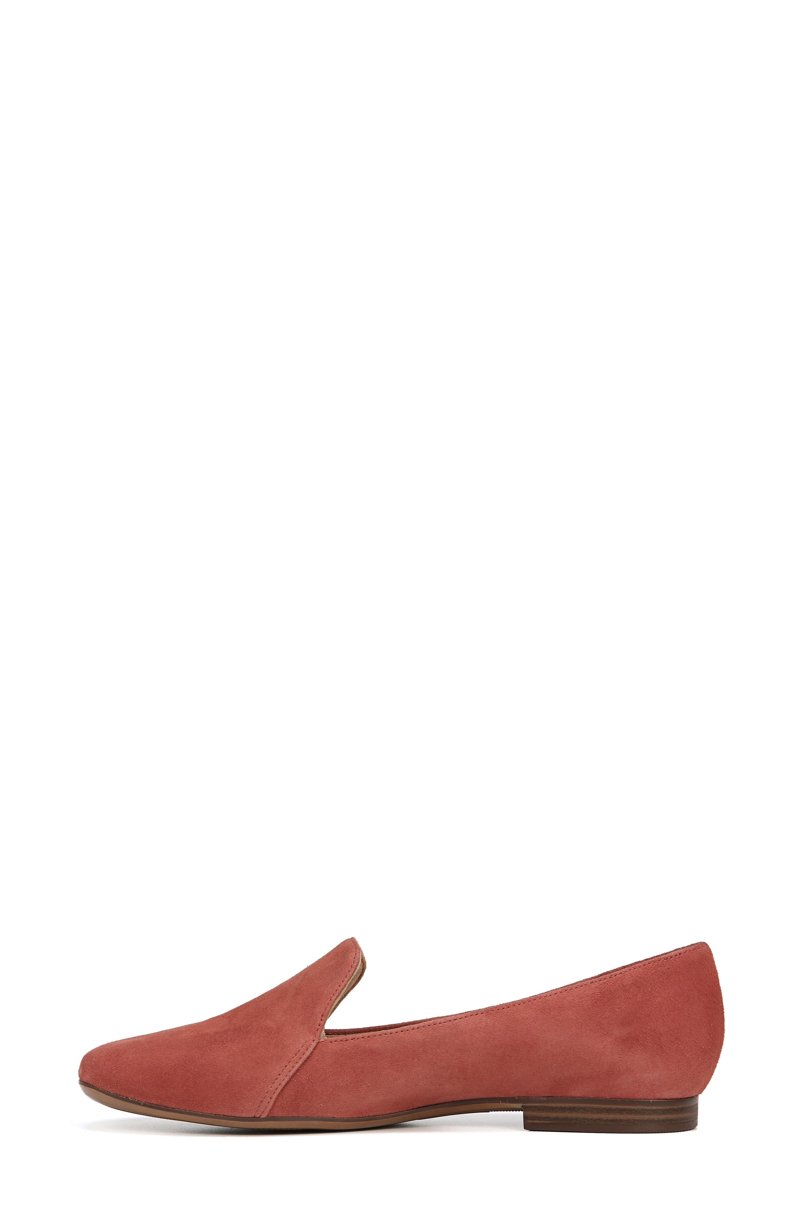 Emiline Flat Loafer,                             Alternate thumbnail 9, color,                             DESERT CLAY SUEDE