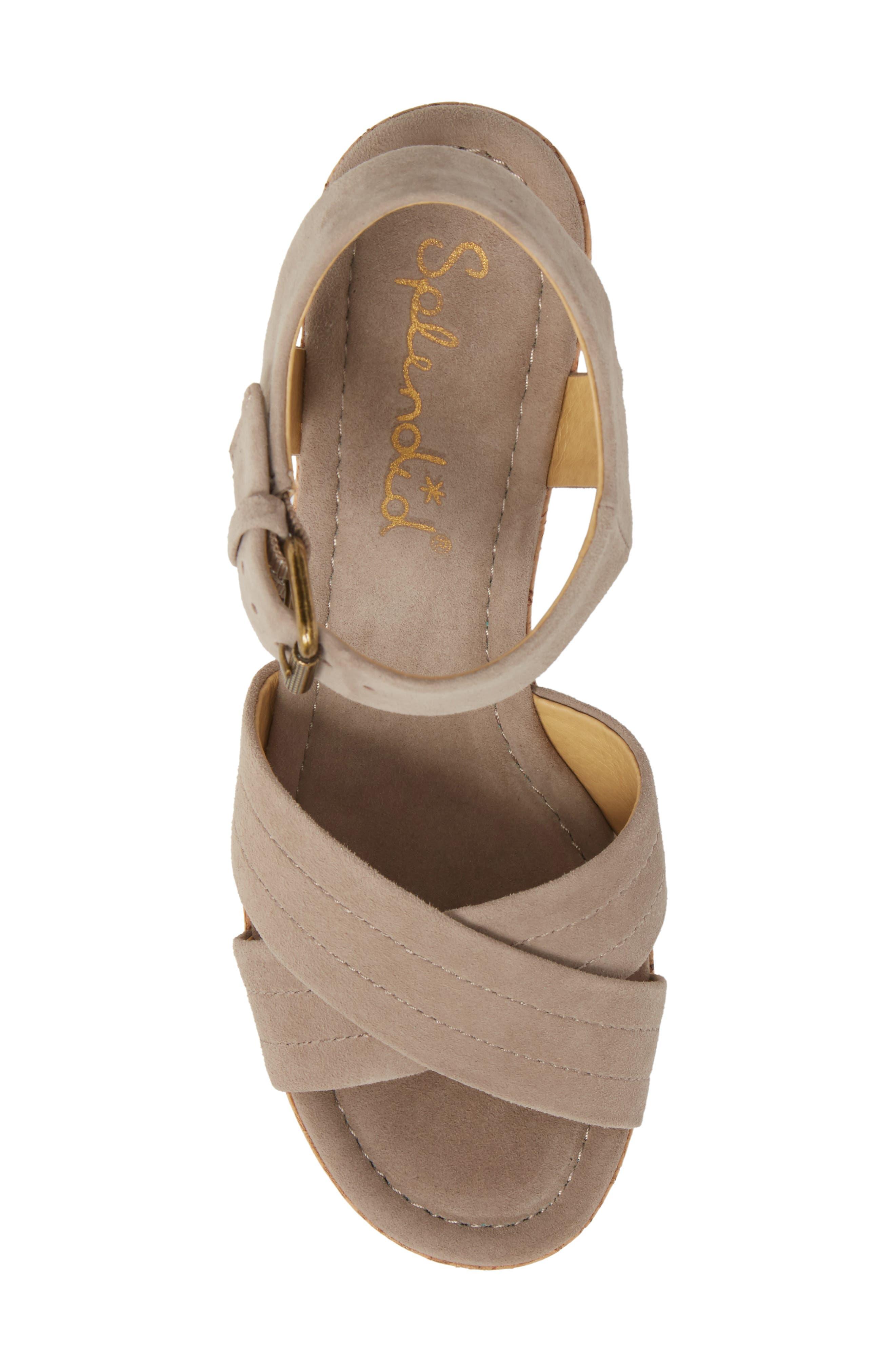 Flaire Platform Sandal,                             Alternate thumbnail 5, color,                             TAUPE SUEDE