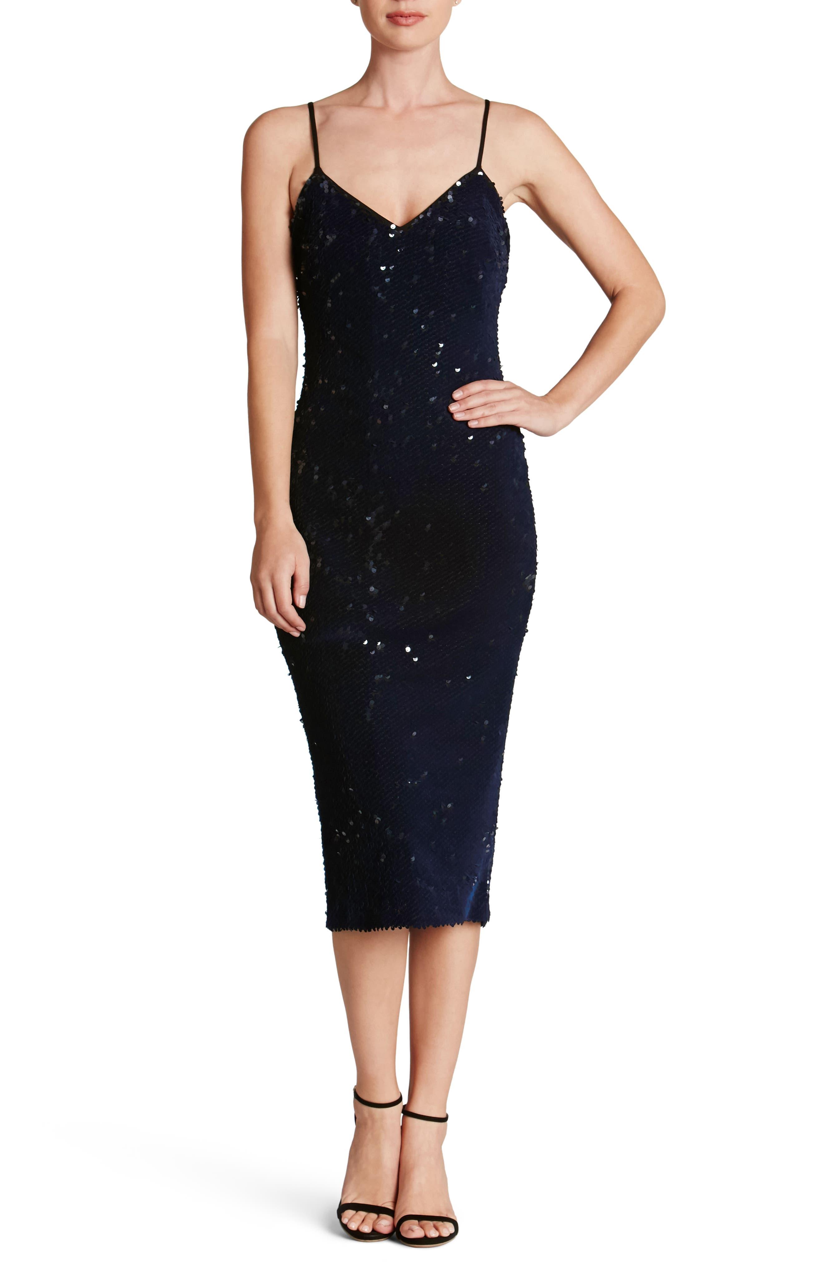 Nina Sequin Velvet Body-Con Dress,                             Alternate thumbnail 14, color,
