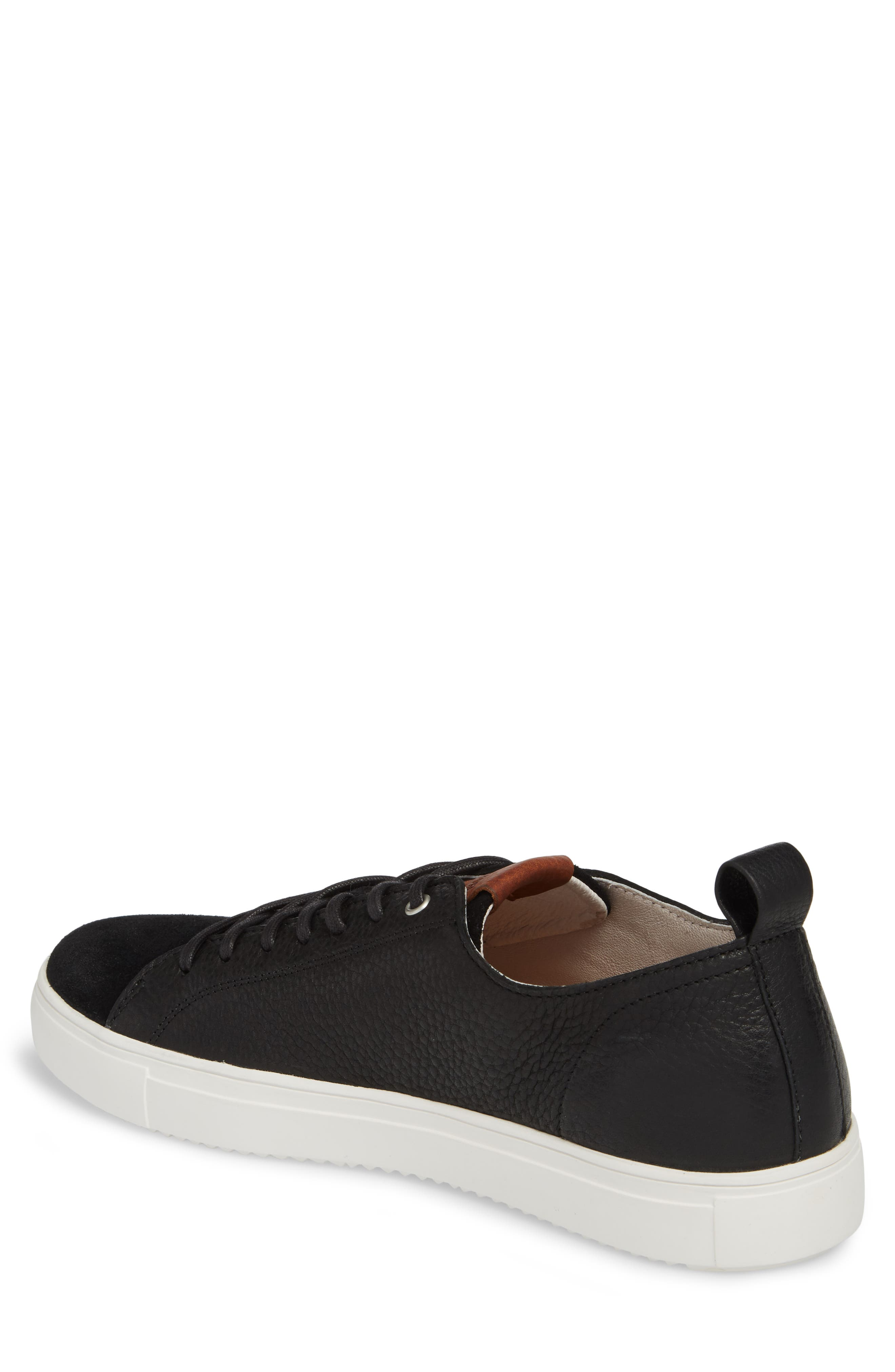 PM46 Low Top Sneaker,                             Alternate thumbnail 2, color,                             BLACK LEATHER