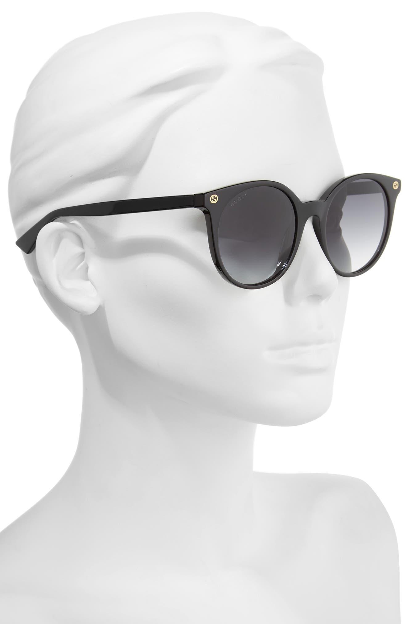 52mm Round Sunglasses,                             Alternate thumbnail 5, color,