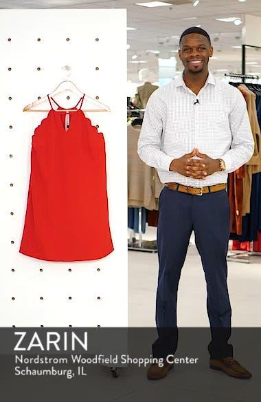 Crepe Scallop Trim Shift Dress, sales video thumbnail