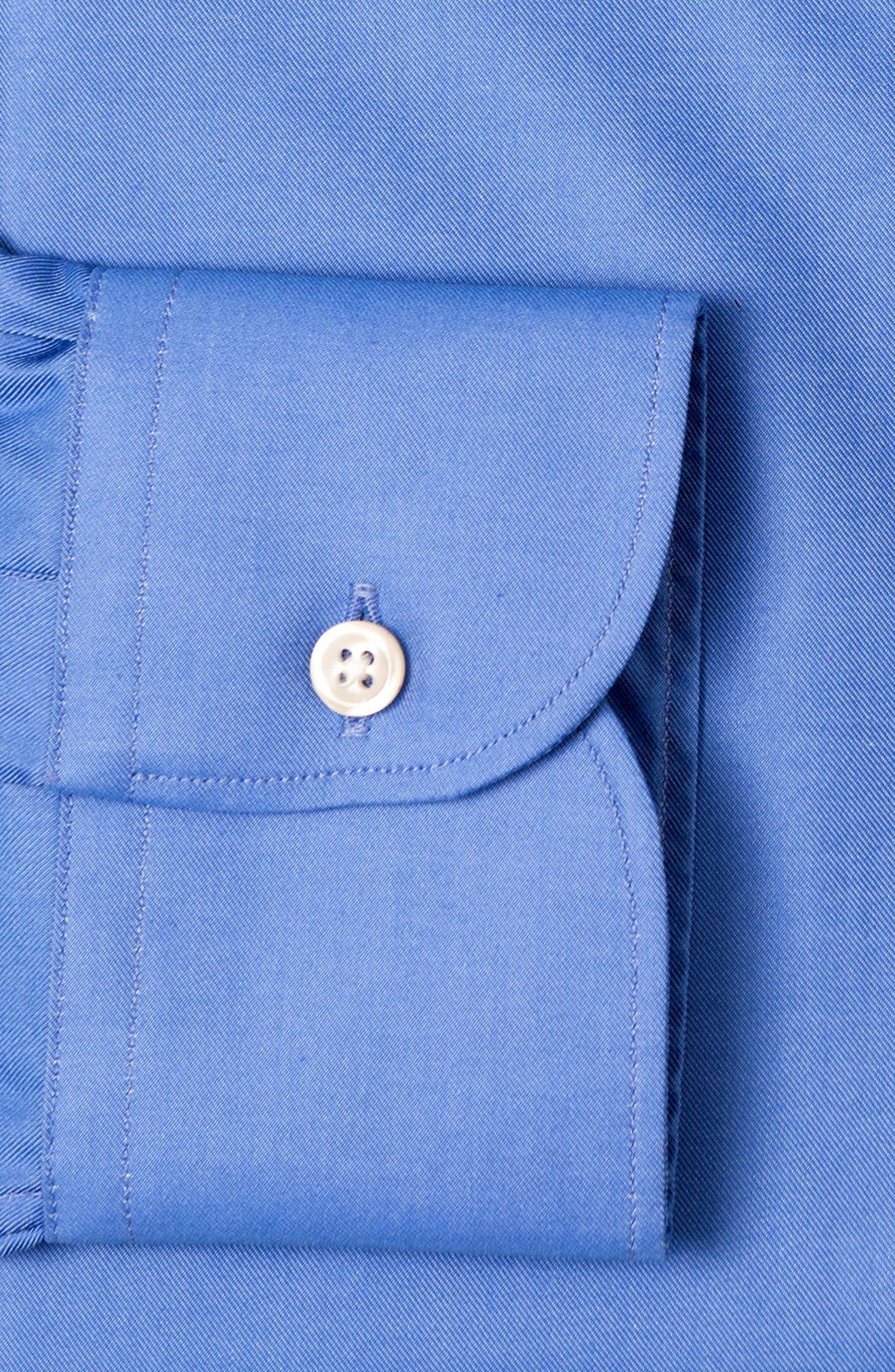 Regular Fit Solid Dress Shirt,                             Alternate thumbnail 6, color,                             DARK BLUE
