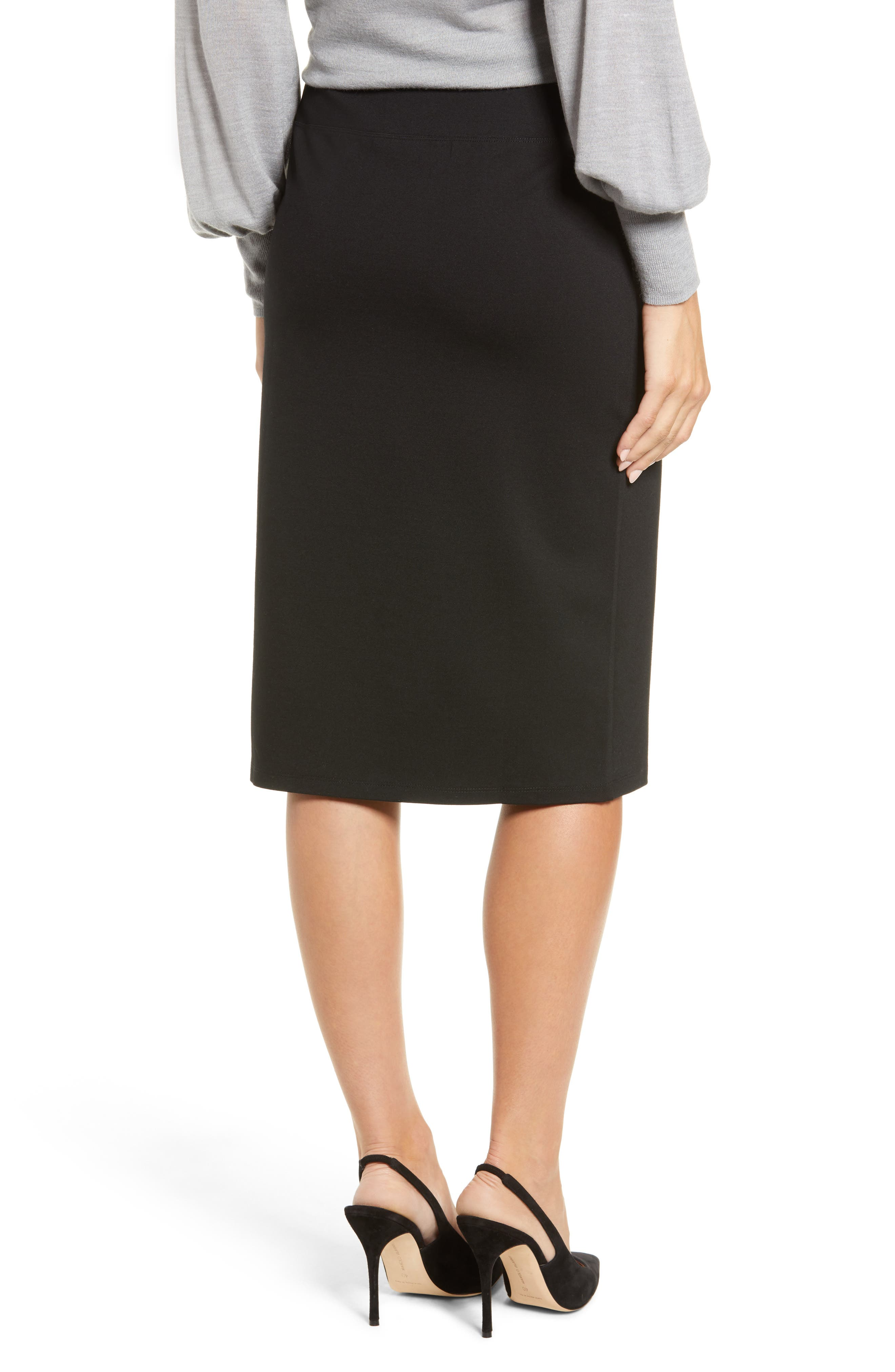 HALOGEN<SUP>®</SUP>,                             Ponte Pencil Skirt,                             Alternate thumbnail 2, color,                             001