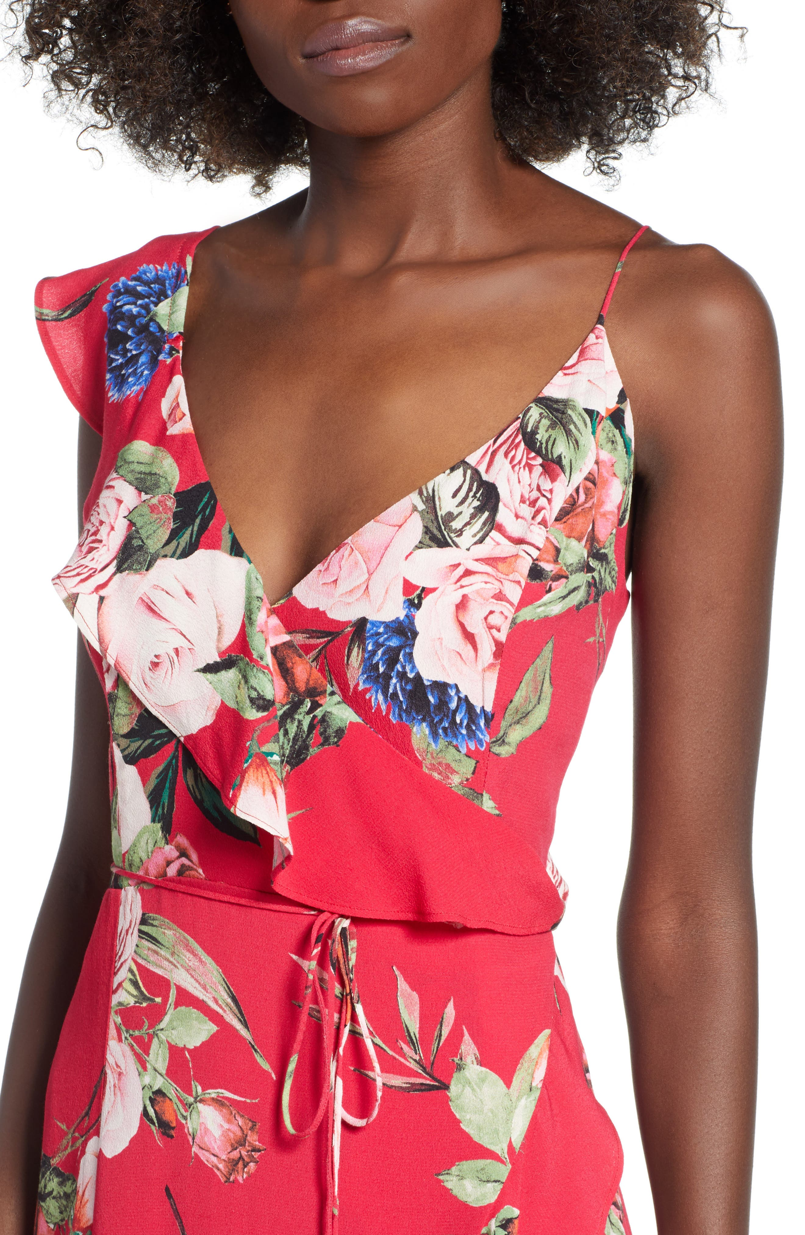 Bowen Wrap Maxi Dress,                             Alternate thumbnail 4, color,                             600