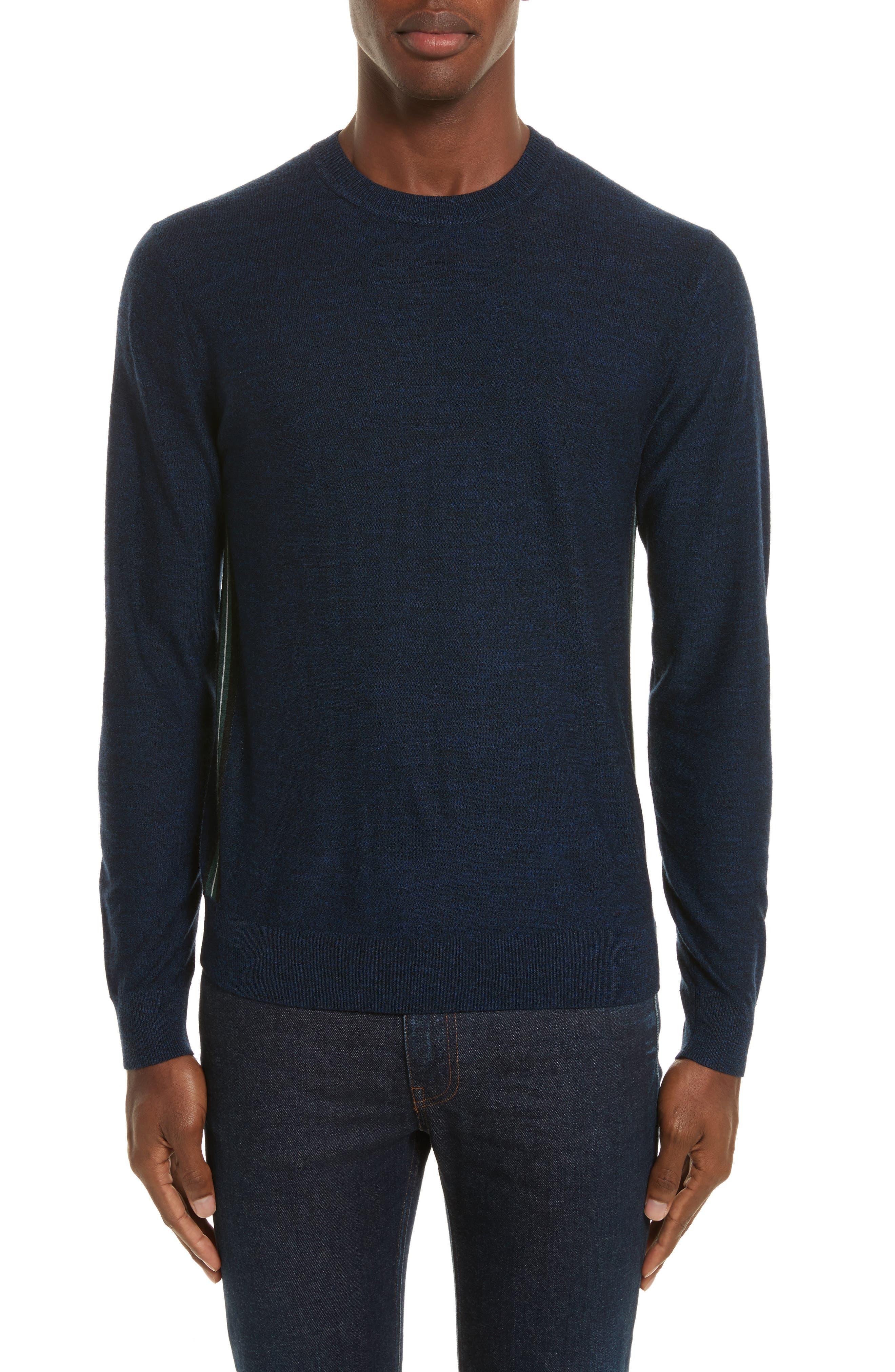 Side Stripe Merino Wool Sweater,                             Main thumbnail 1, color,                             410