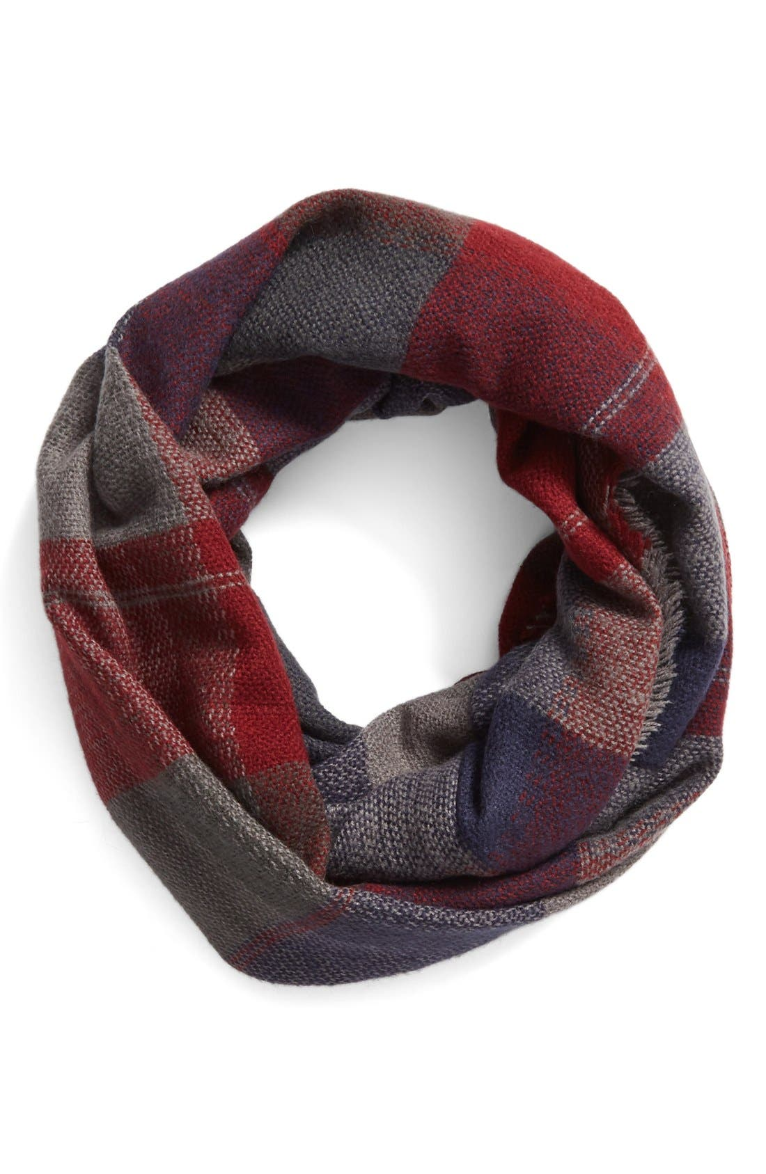 'Heritage' Plaid Infinity Scarf,                             Main thumbnail 4, color,