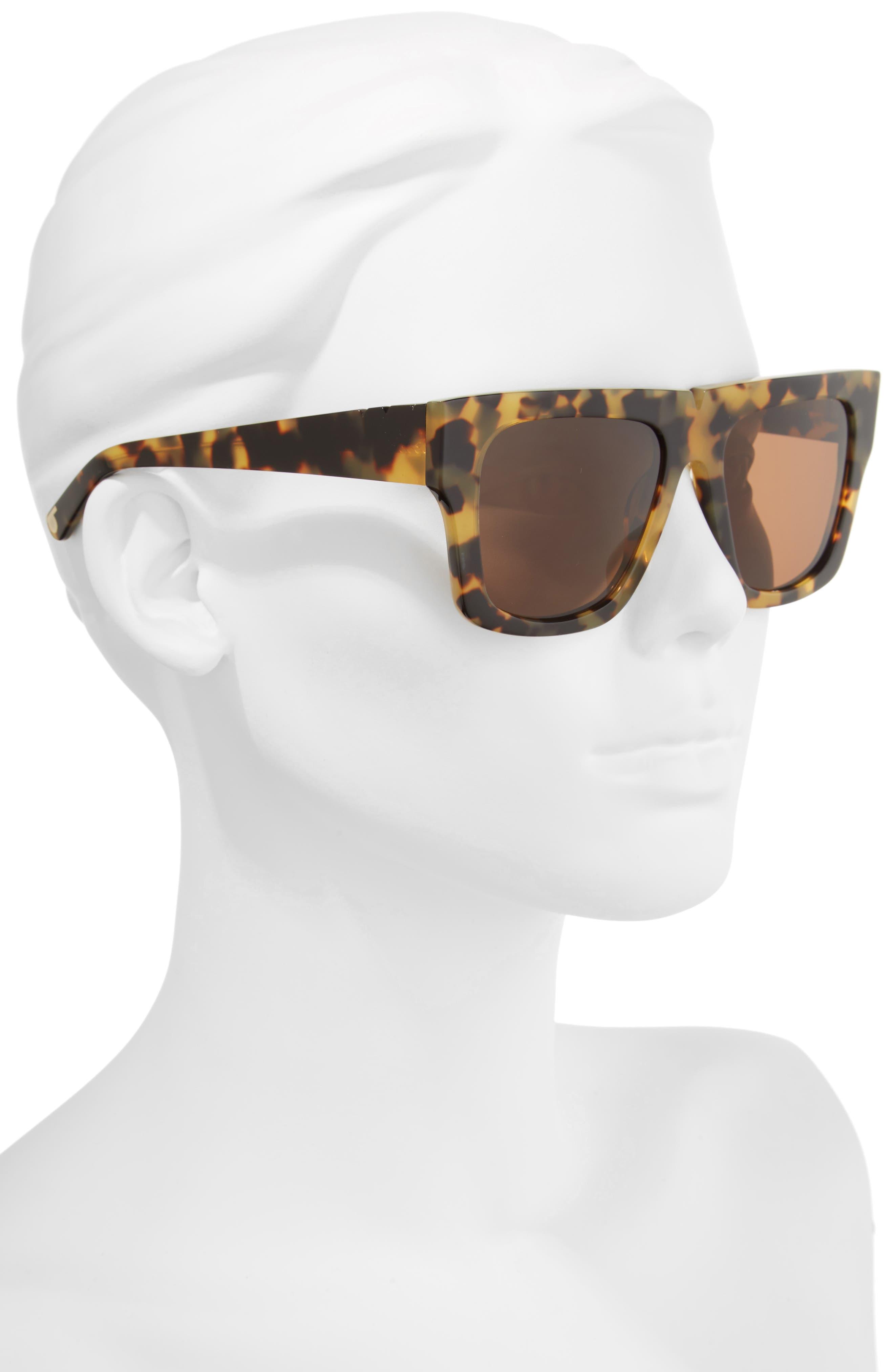 Bigger & Better 54mm Sunglasses,                             Alternate thumbnail 2, color,                             DARK TORTOISE/ BROWN