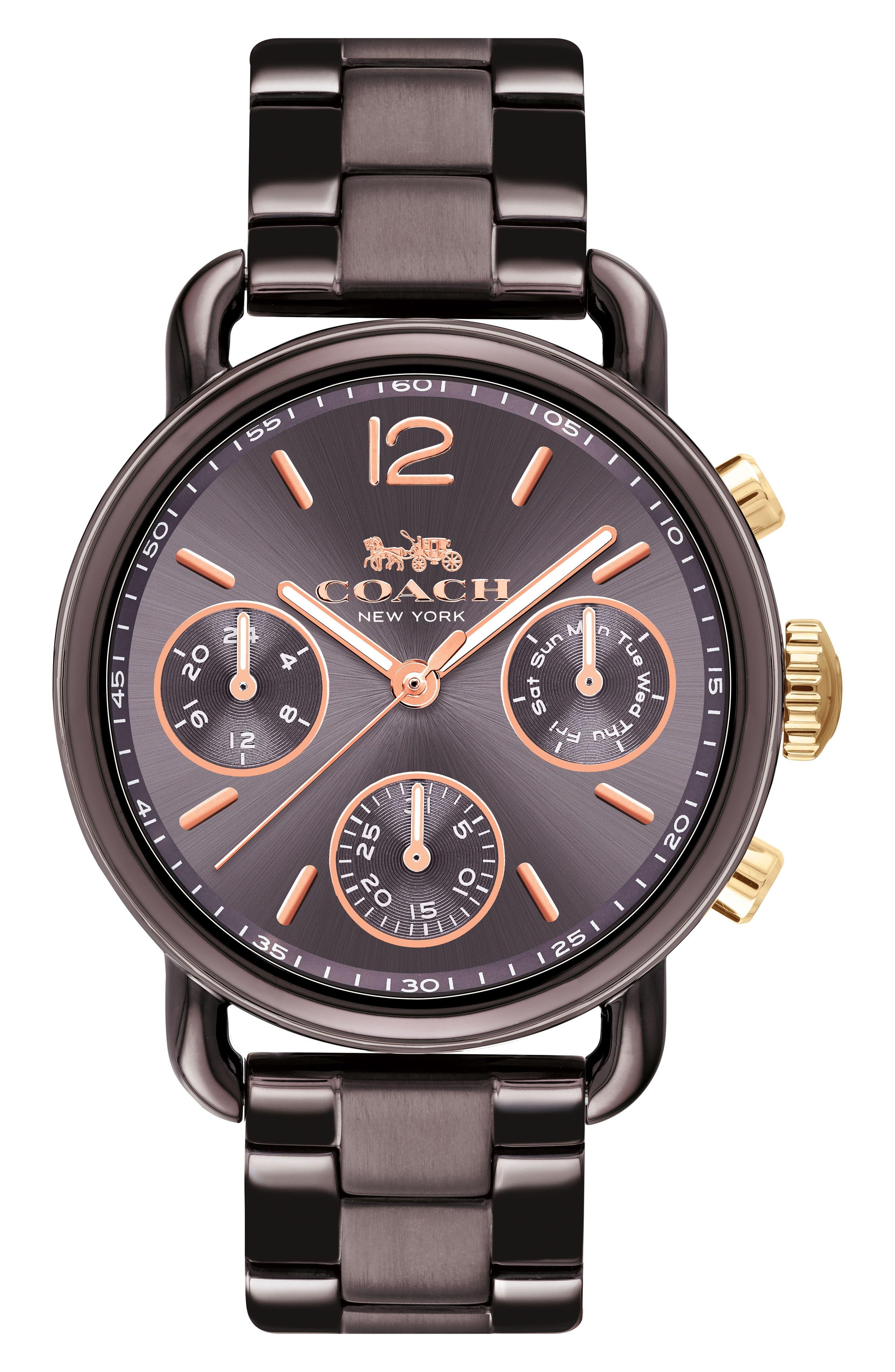 Delancey Sport Chronograph Bracelet Watch, 36mm,                         Main,                         color, BROWN